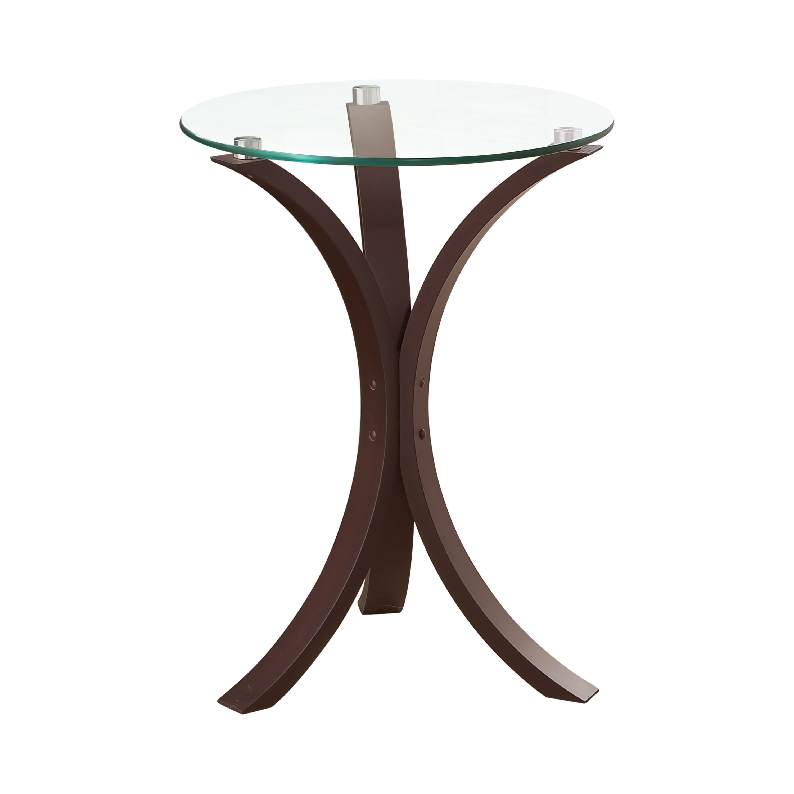 Cuccino Gl Top Round Accent Table