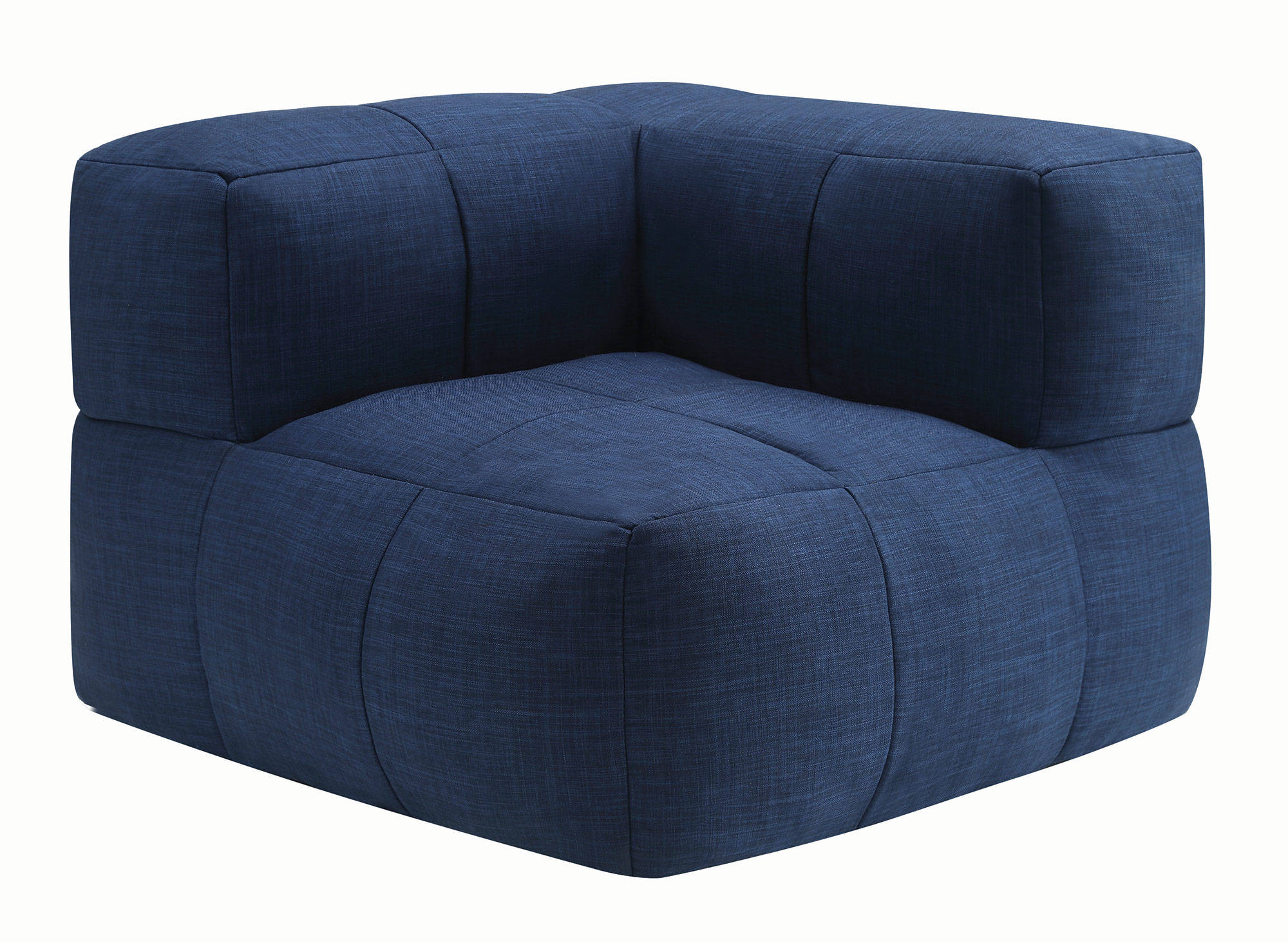 Lazy Life Casual Navy Fabric Corner Bean Bag The Classy Home