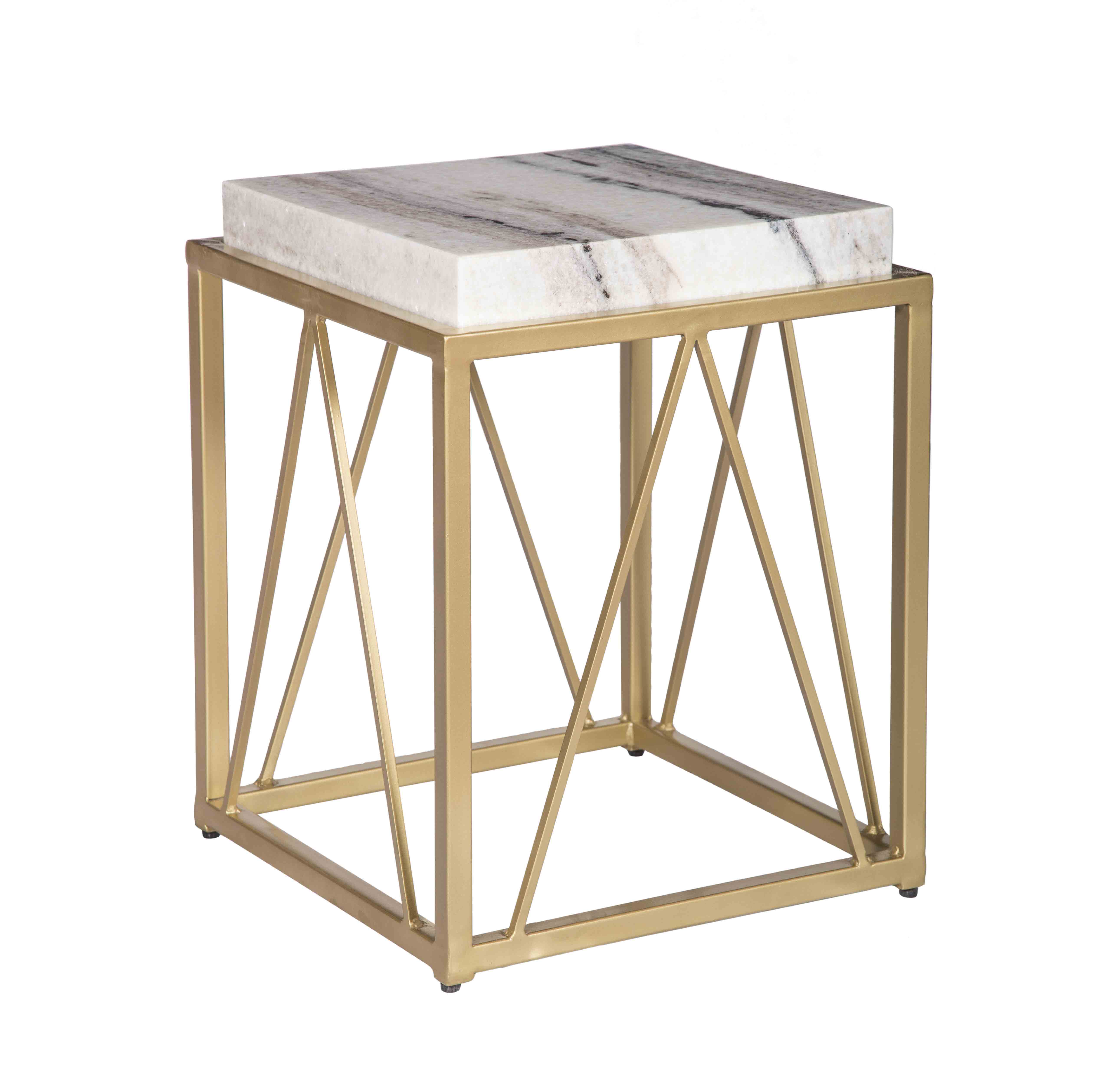 accent side by modern brushed and end tables nuevo lily living steel stainless gold table
