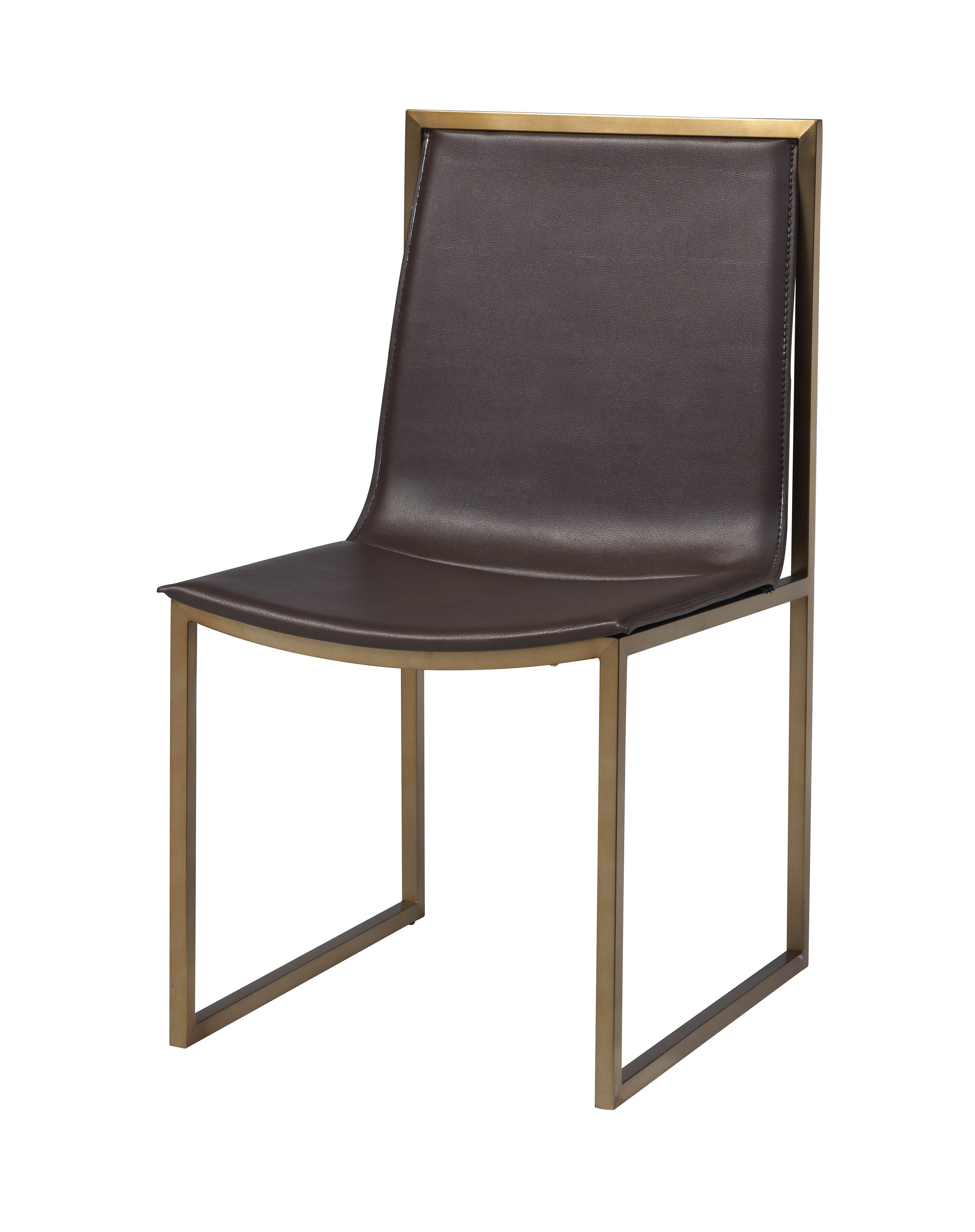 Coast midas gold brown pvc dining chairs click to enlarge