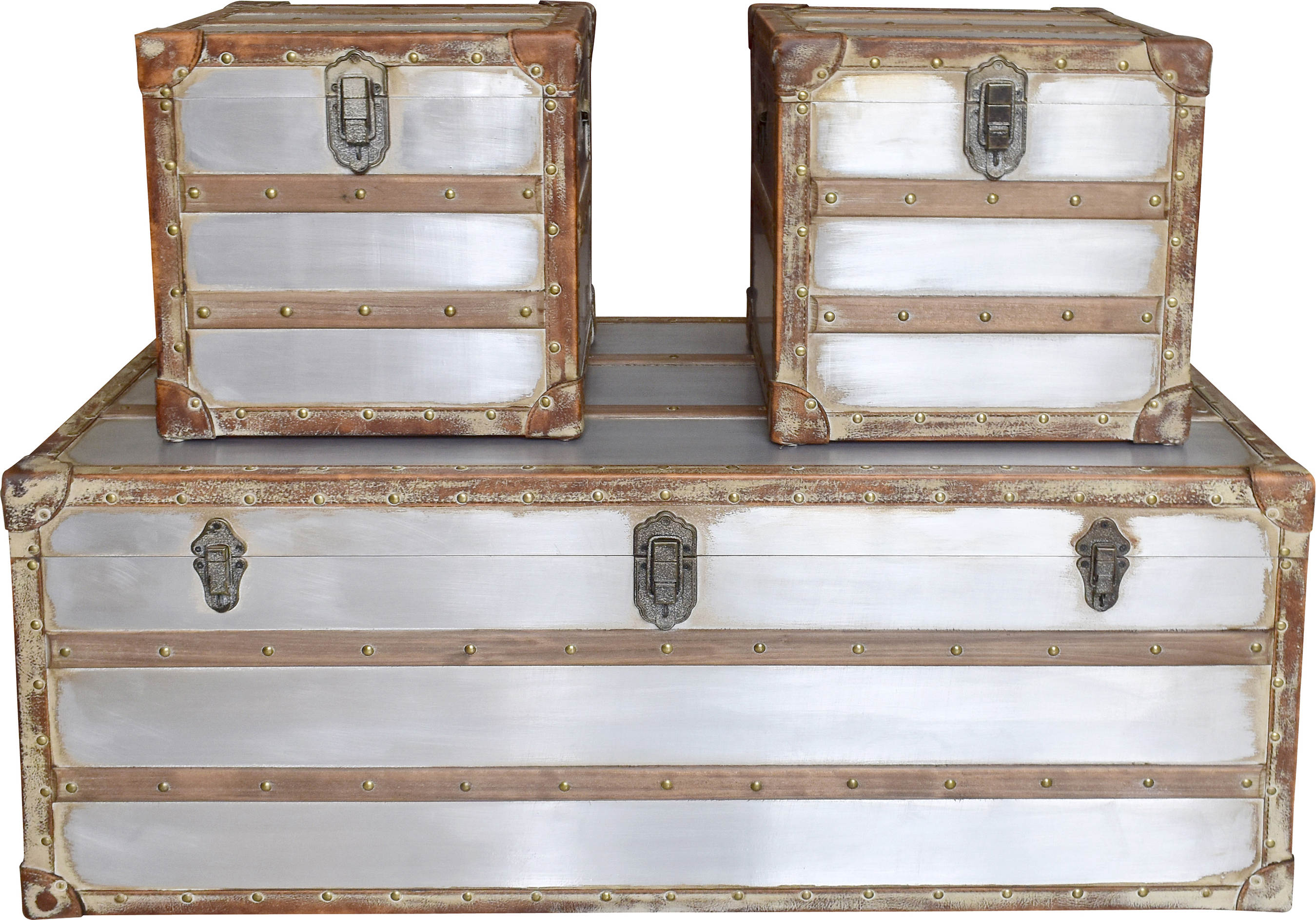 Merveilleux ... Silver Trunk Coffee Table And Side Table Click To Enlarge ...