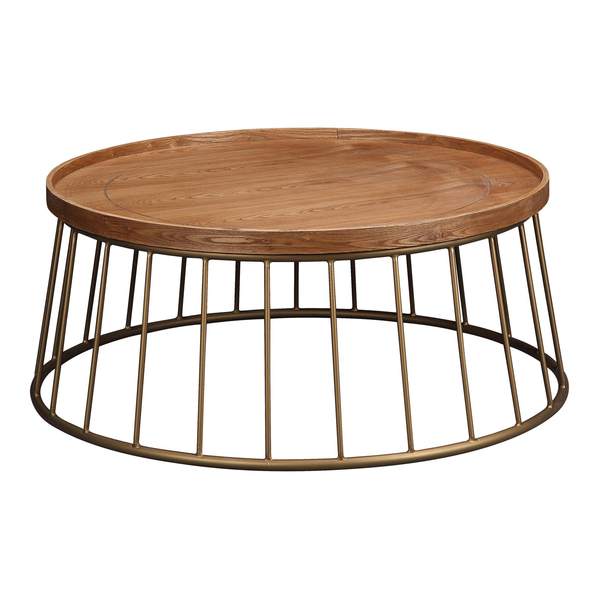 Magnificent Moes Home Norgran Light Brown Wood Round Coffee Table Home Interior And Landscaping Ologienasavecom
