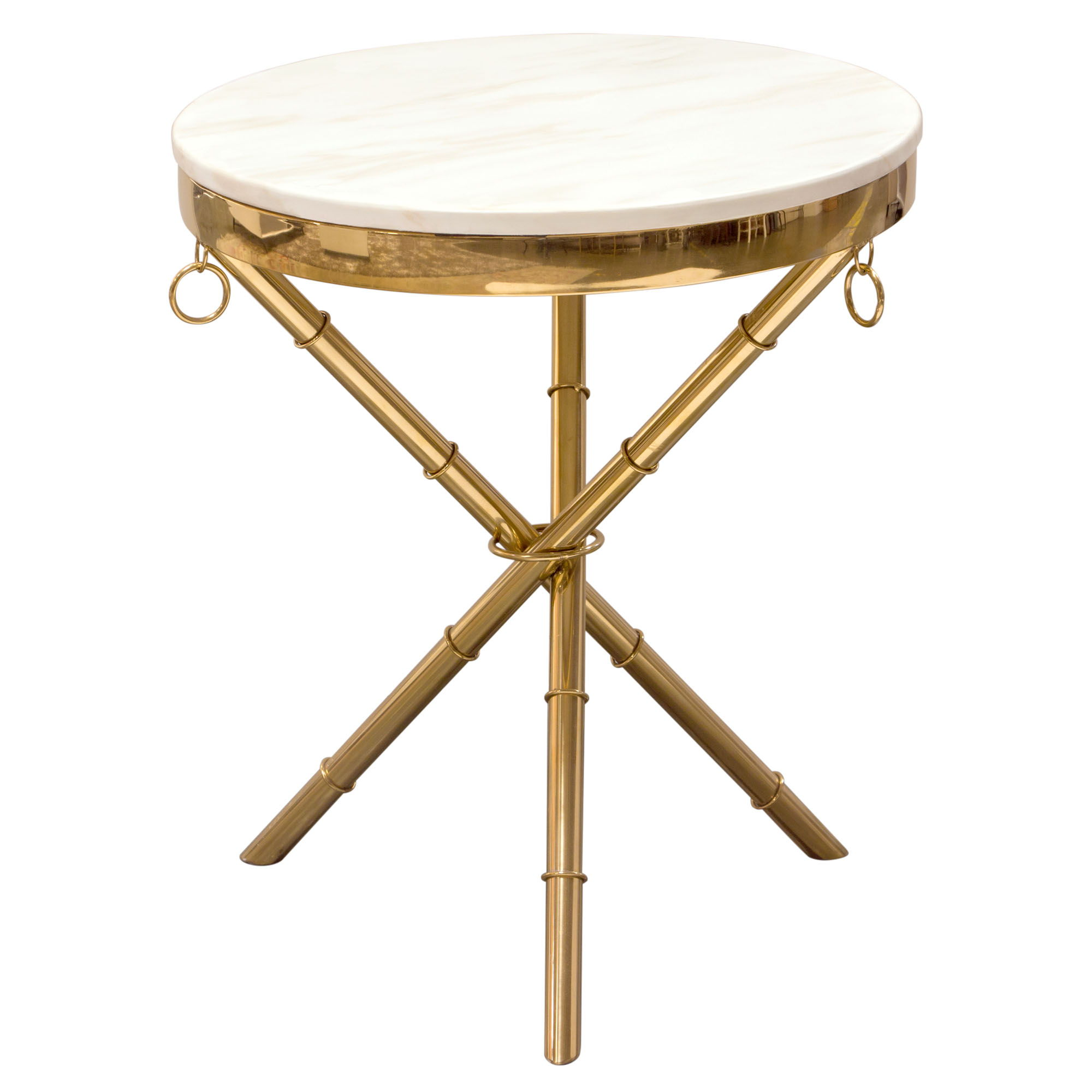 Miraculous Diamond Sofa Reed White Top Gold Base Round Accent Table Caraccident5 Cool Chair Designs And Ideas Caraccident5Info