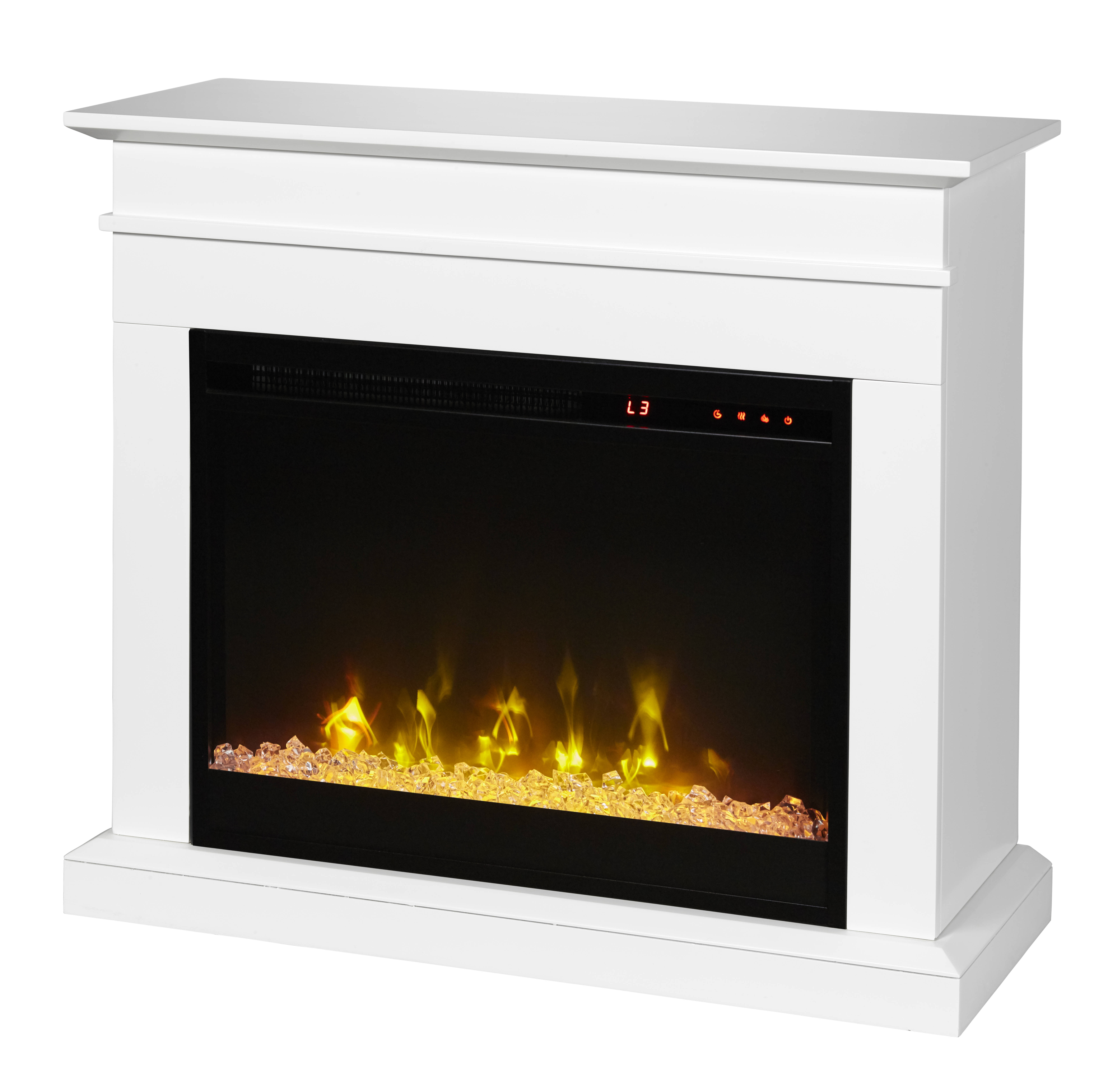 Dimplex C3 Jasmine White Mantel Electric Fireplace The Classy Home