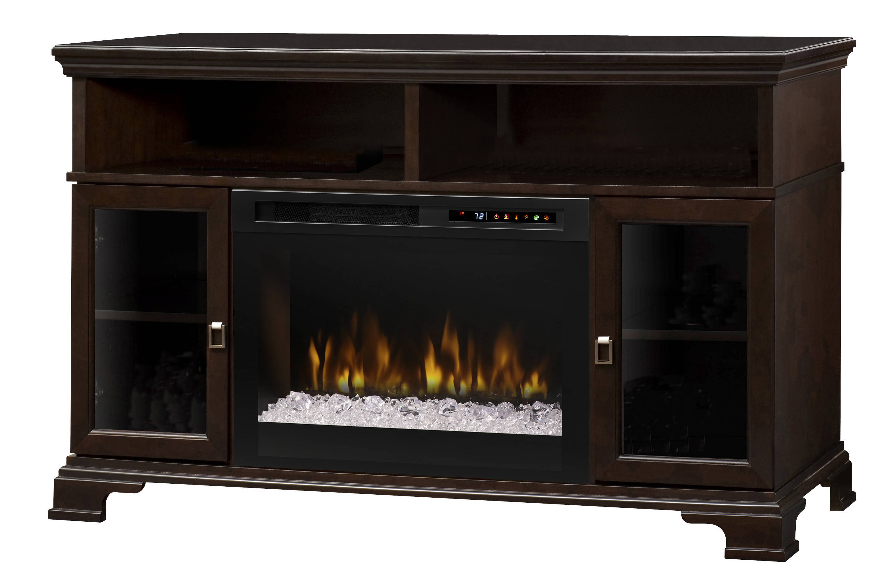 Dimplex brookings espresso wood media console electric - Going to bed with embers in fireplace ...