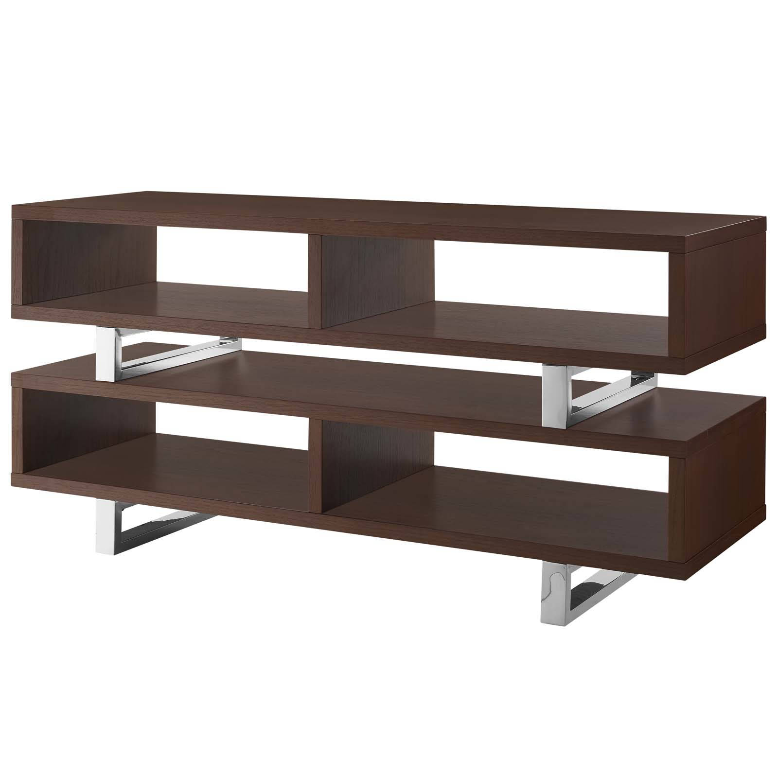 new concept 26154 d2e7b Modway Furniture Amble Walnut 47 Inch TV Stand