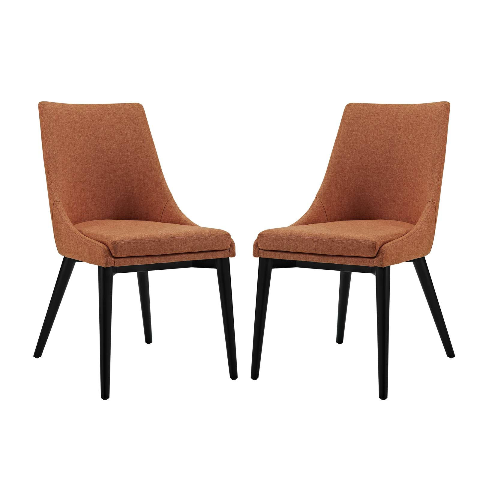 Orange Fabric Dining Side Chairs To Enlarge