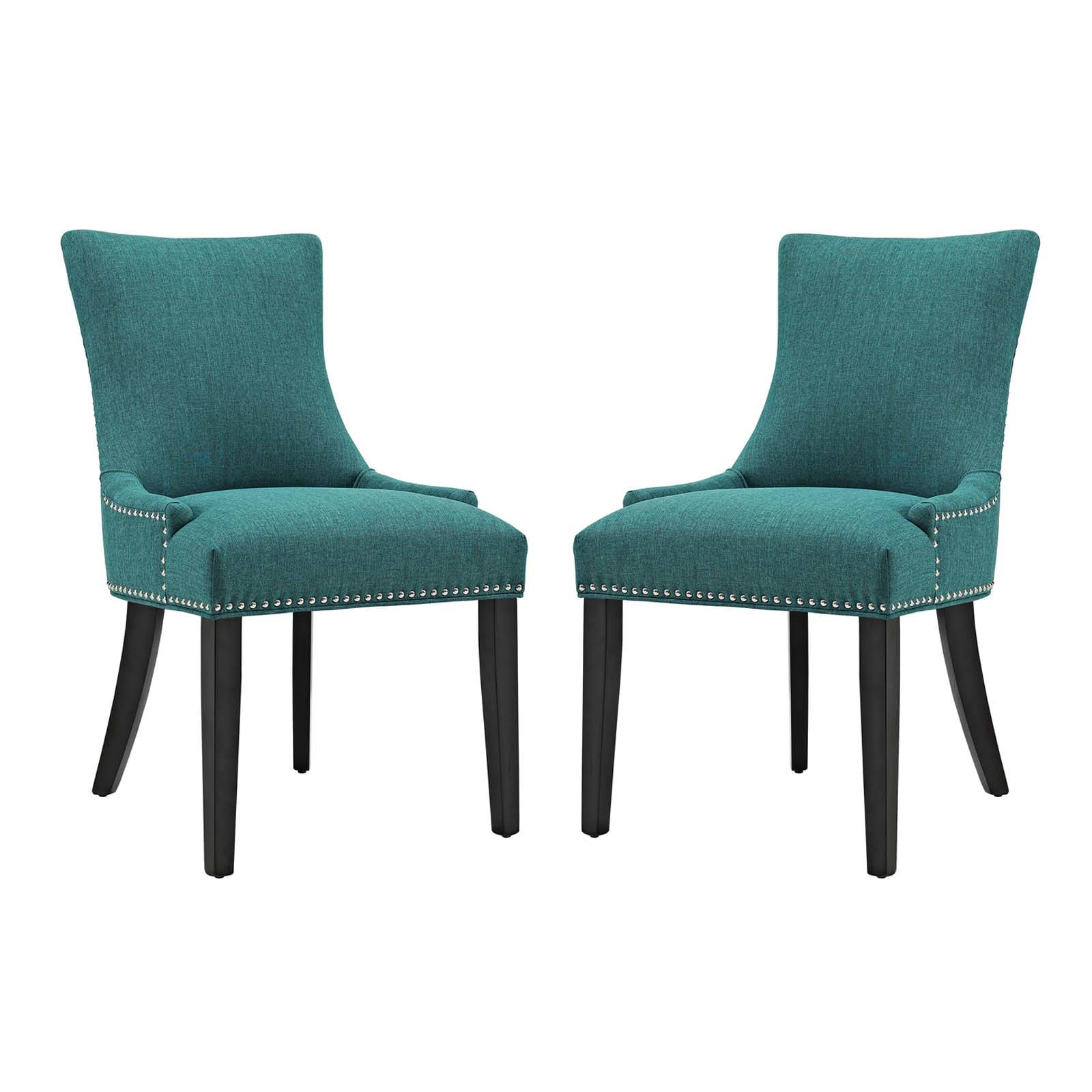 2 Modway Furniture Marquis Teal Dining Side Chairs The Classy Home