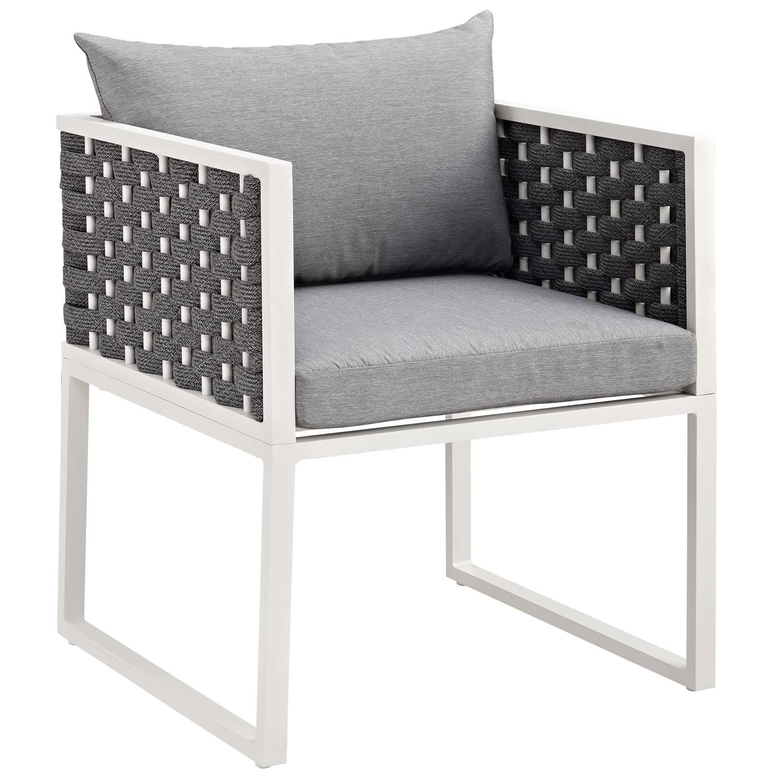 Modway Furniture Stance White Gray Outdoor Patio Dining Armchair