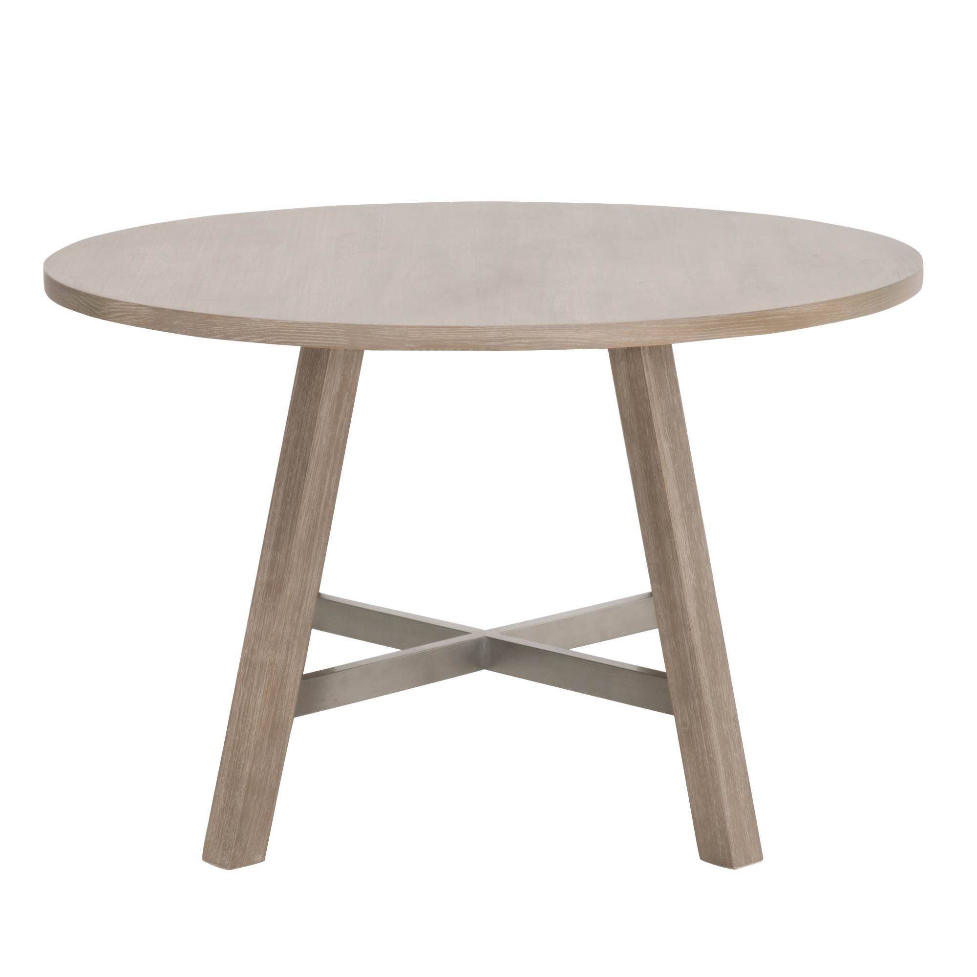 Essentials For Living Cross Natural Gray 47 Inch Round Dining Table