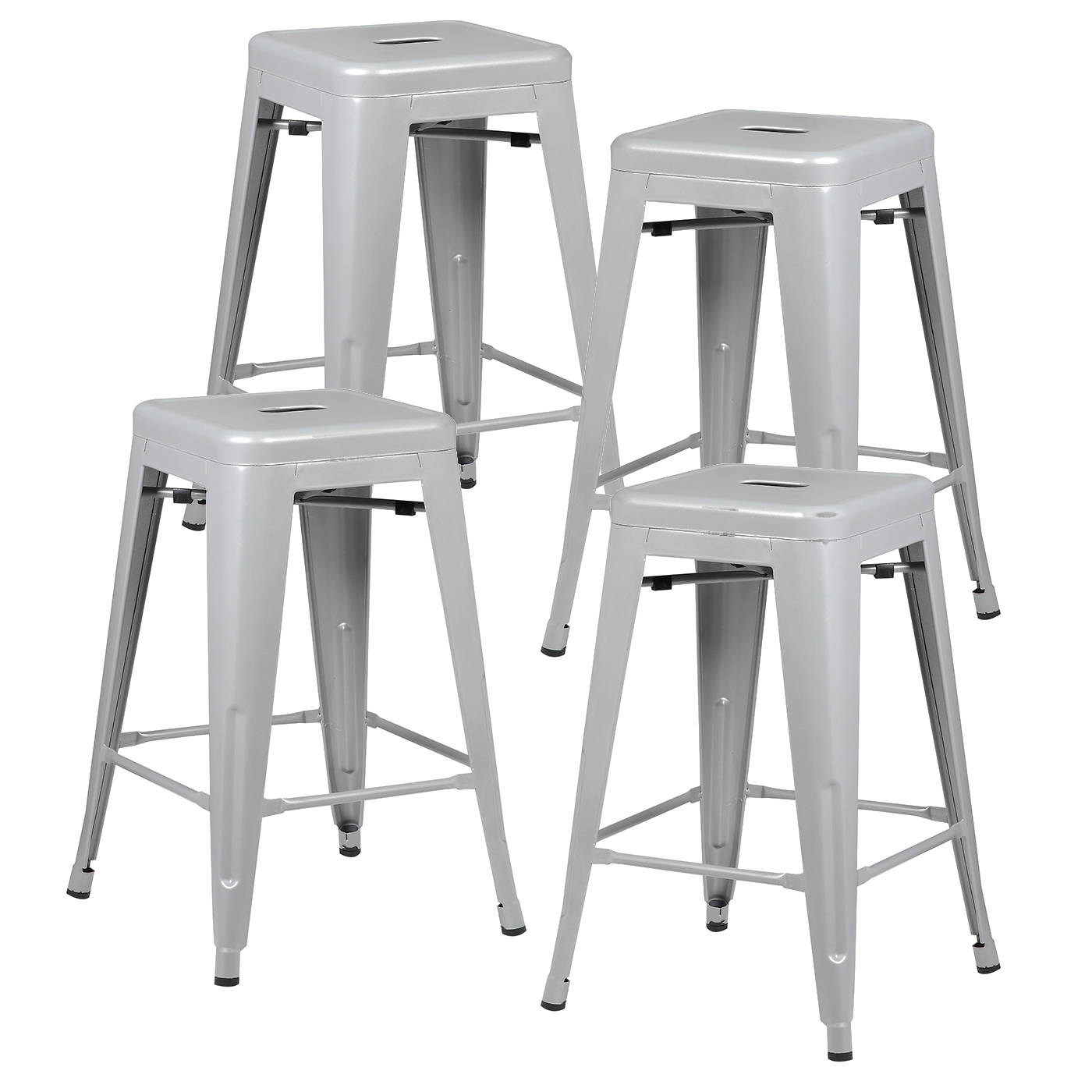 Incredible 4 Edgemod Furniture Trattoria Grey 24 Inch Counter Height Stools Caraccident5 Cool Chair Designs And Ideas Caraccident5Info