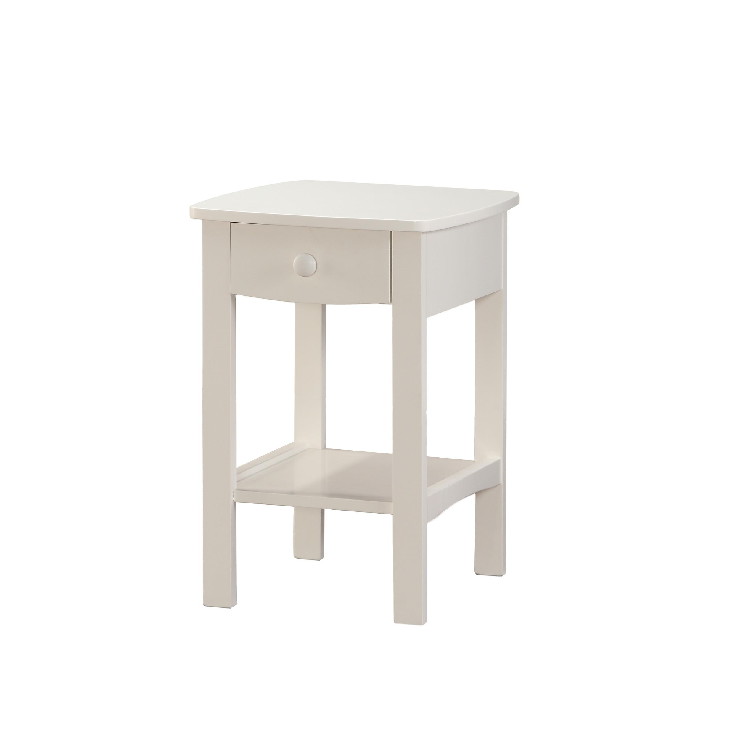Emerald Home Decor White Wood Night Stand Click To Enlarge
