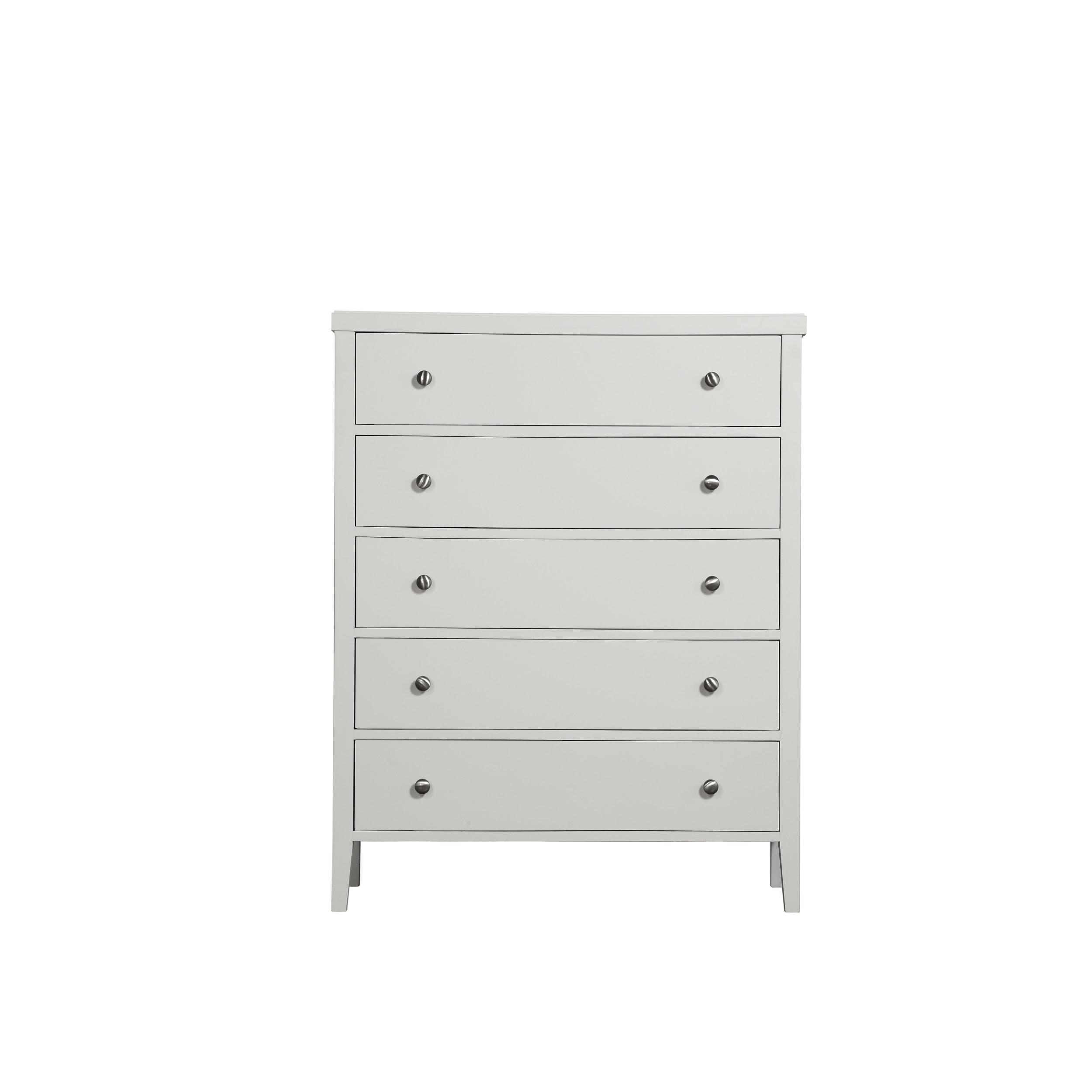 Emerald Home Decor III White 5 Drawers Dresser Click To Enlarge