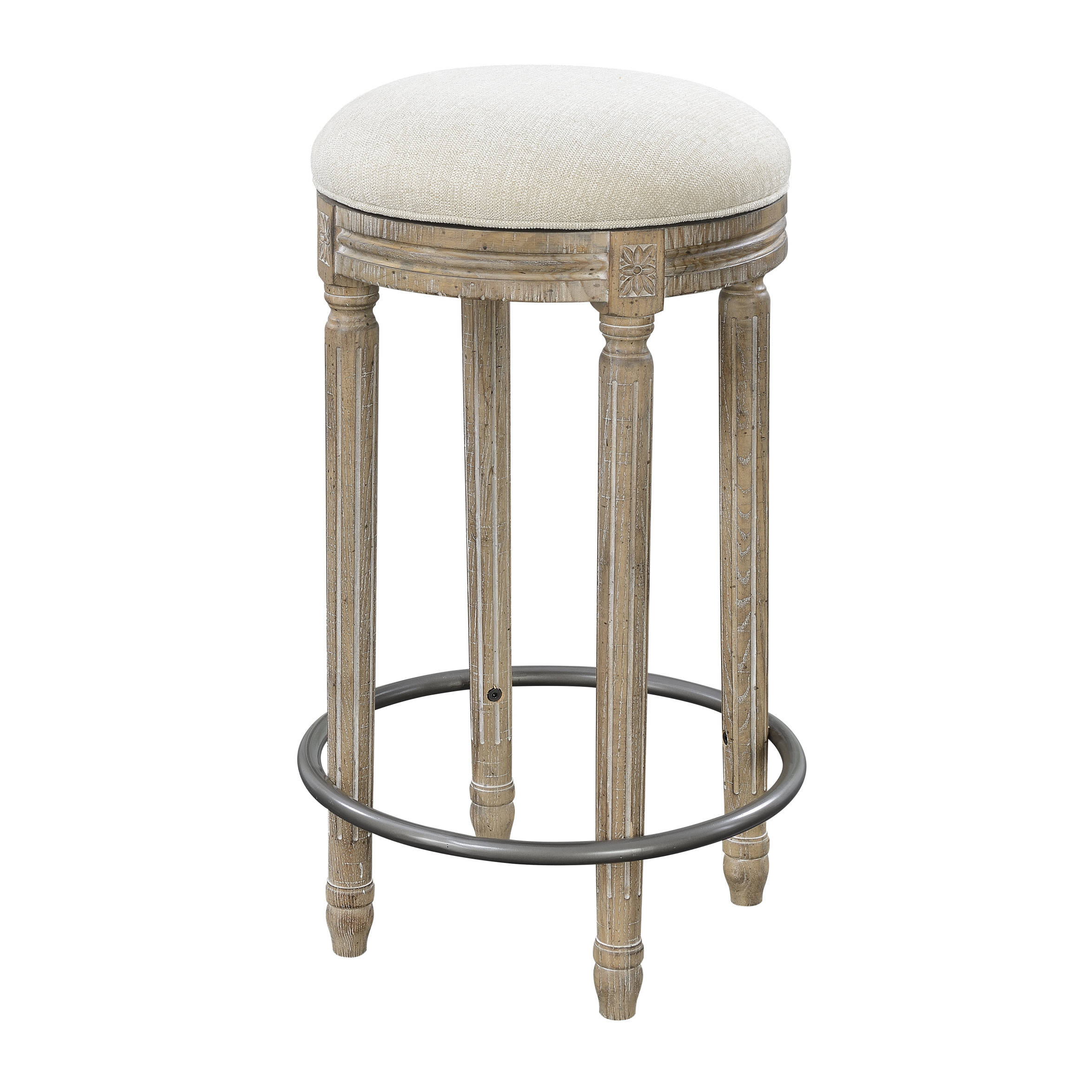Emerald Home Interlude Cream Round 30 Inch Bar Stool The Classy Home
