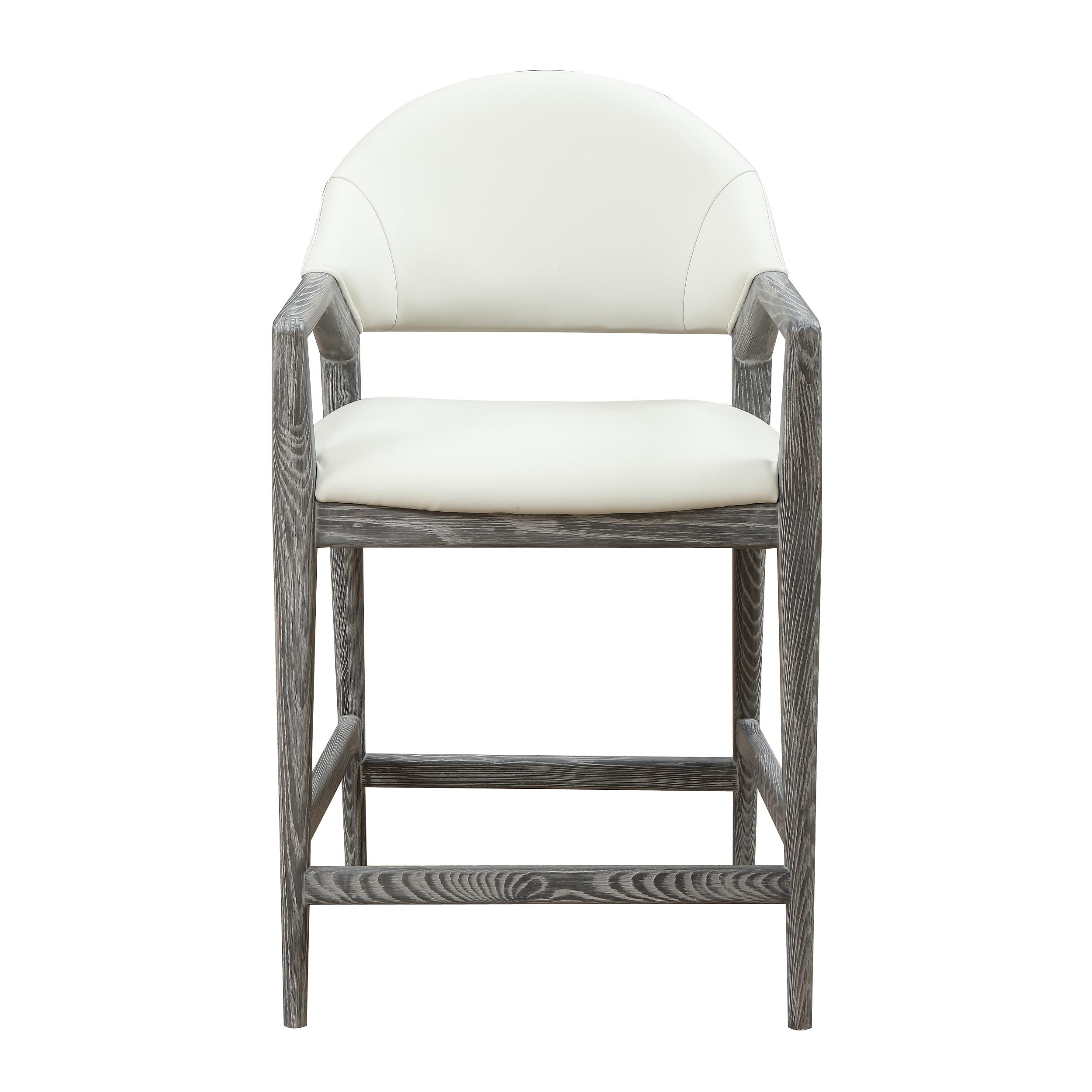 White Modern 24 Inch Bar Stool Click To Enlarge