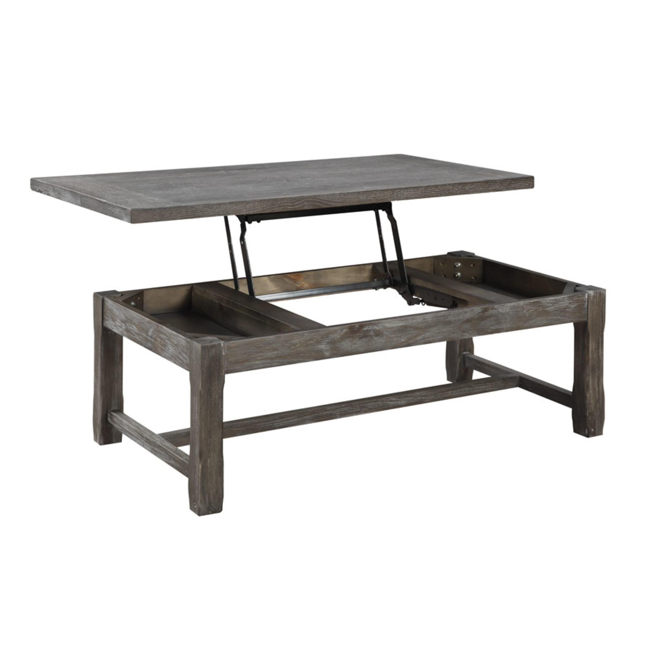 Emerald Home Paladin Charcoal Gray Wood Lift Top Coffee Table The