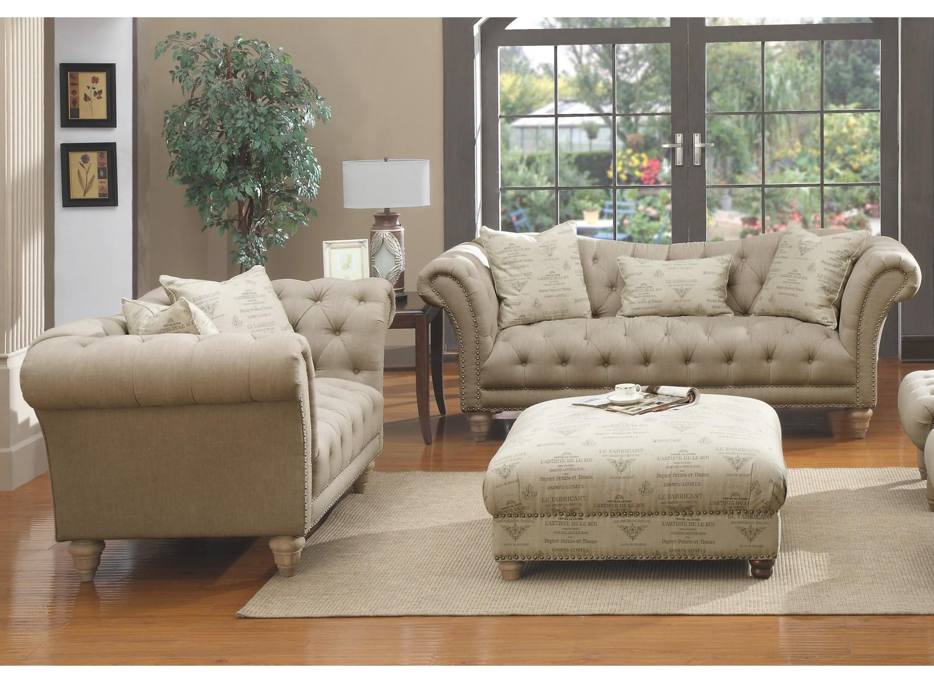 Emerald Home Hutton Ii Off White 4pc Living Room Set With