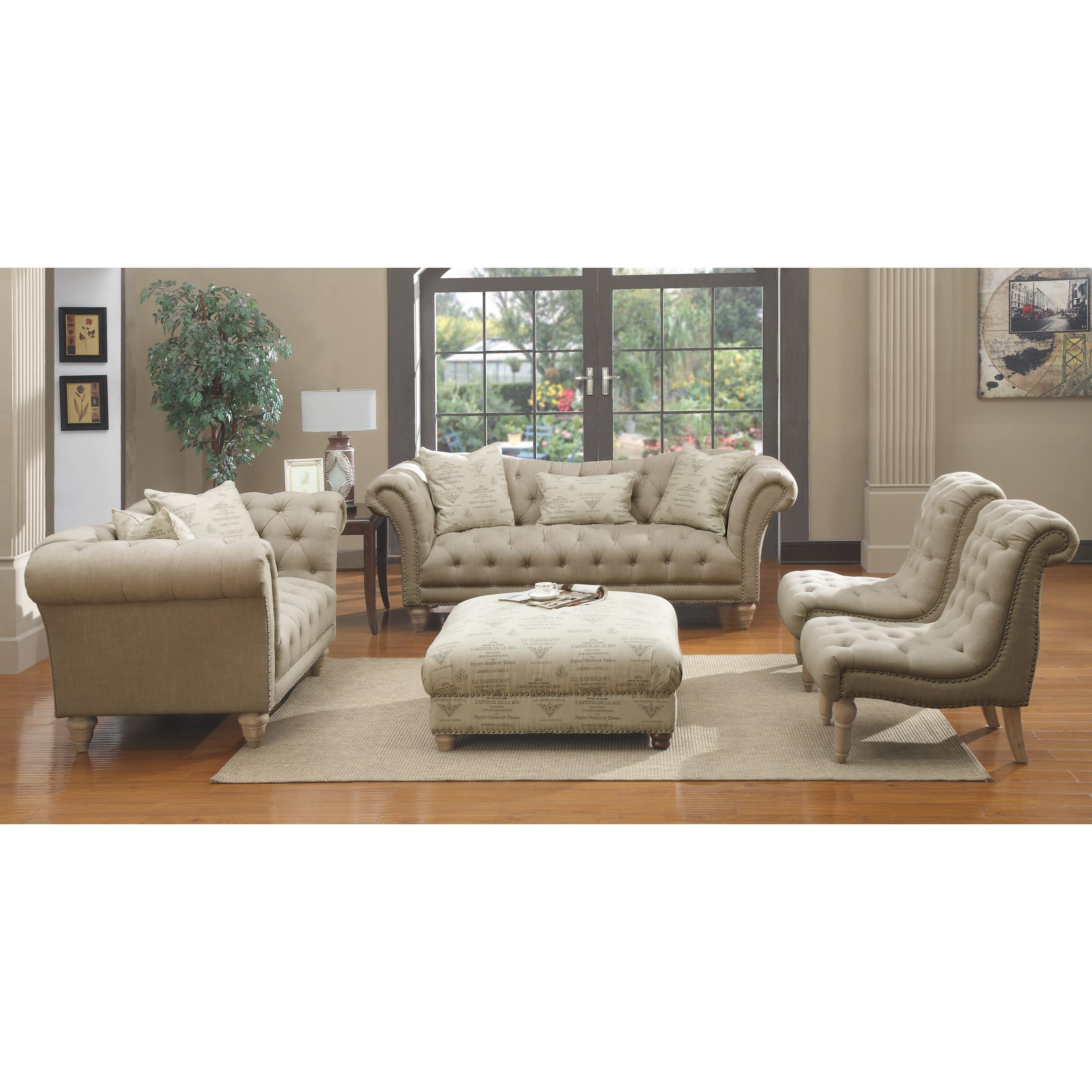 Emerald Home Hutton II Off White 5pc Living Room Set with ...