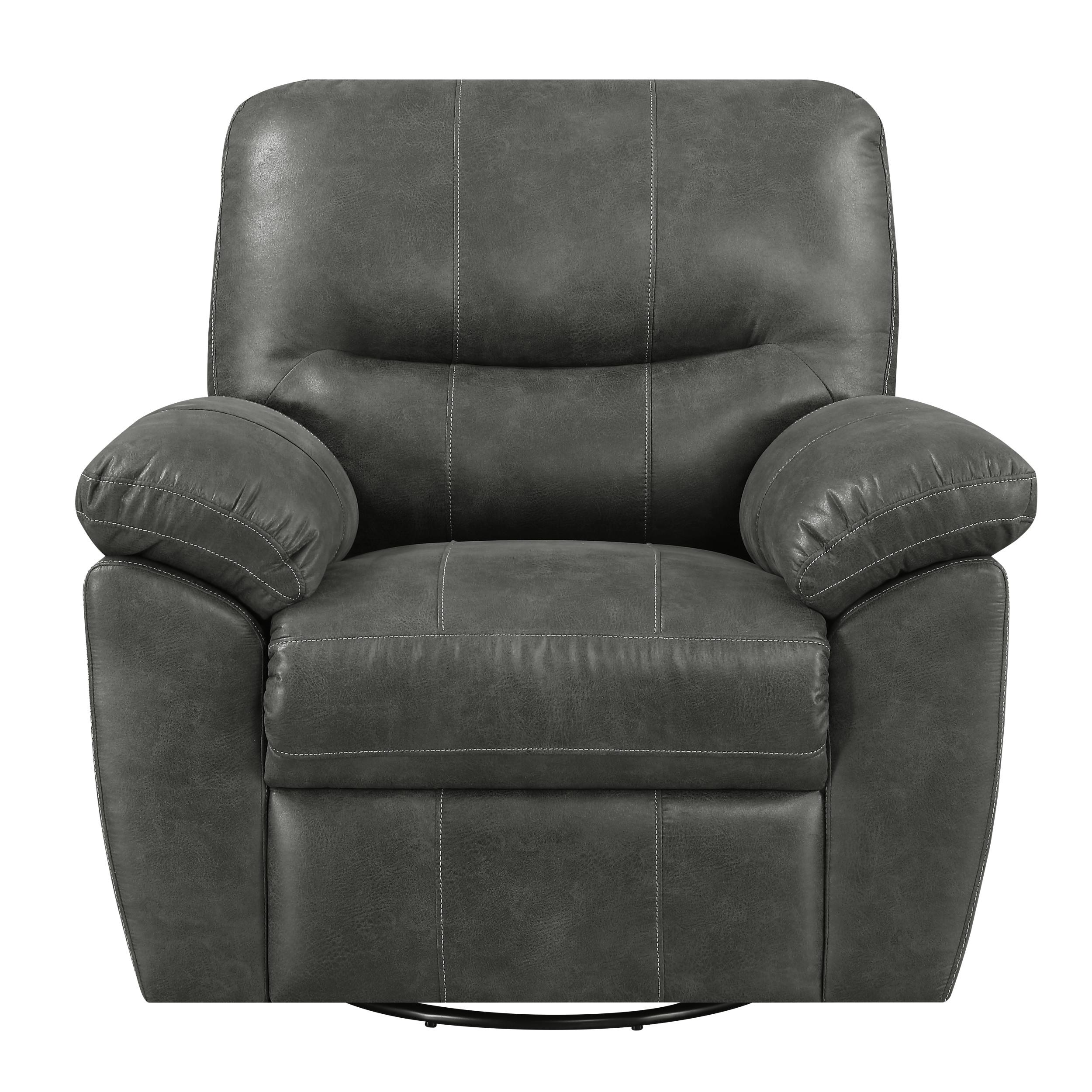 Emerald Home Nelson Charcoal Gray Fabric Recliner Click To Enlarge