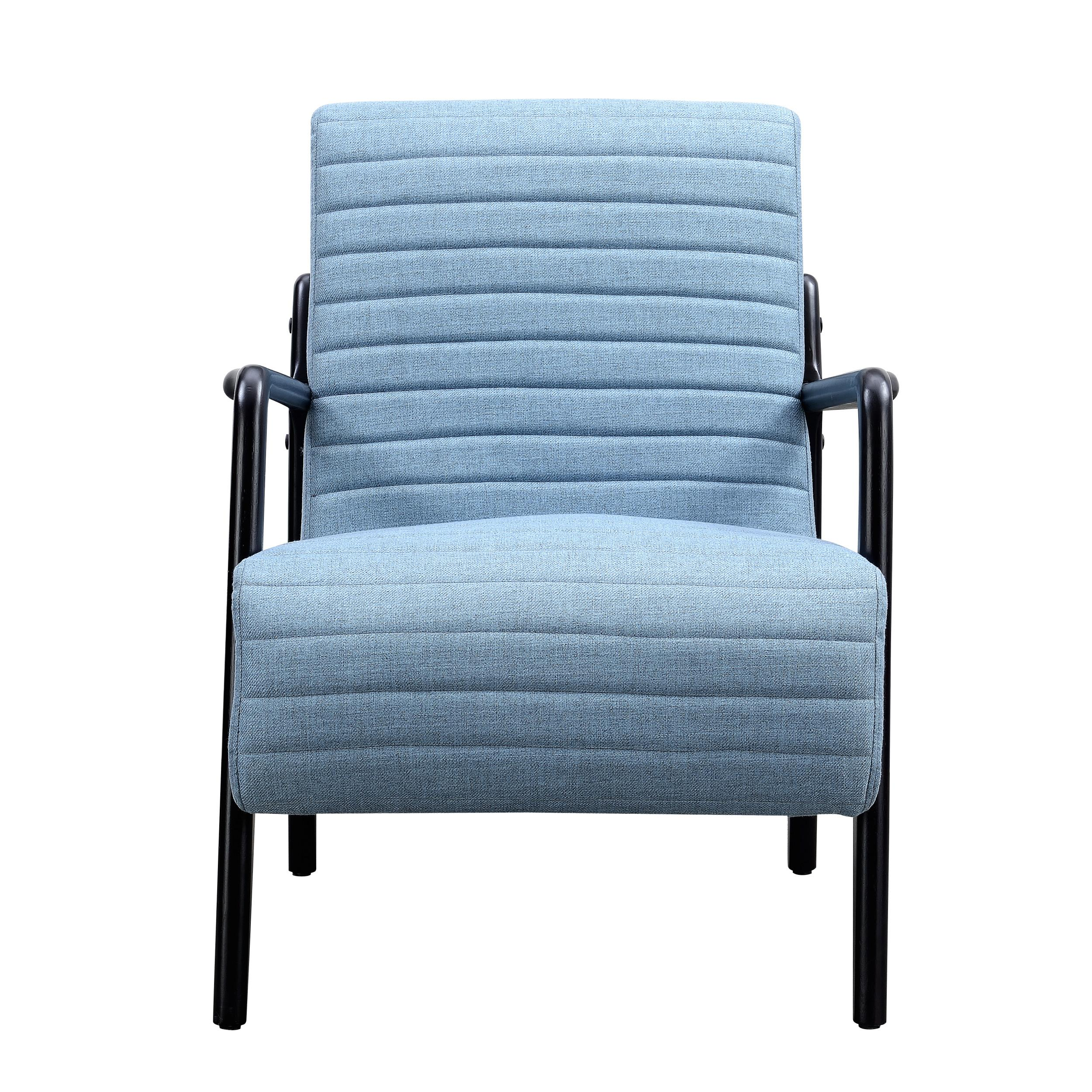 ... Modern Accent Chair Click To Enlarge ...  sc 1 st  The Classy Home & Emerald Home Zola Sky Blue Black Fabric Modern Accent Chair | The ...