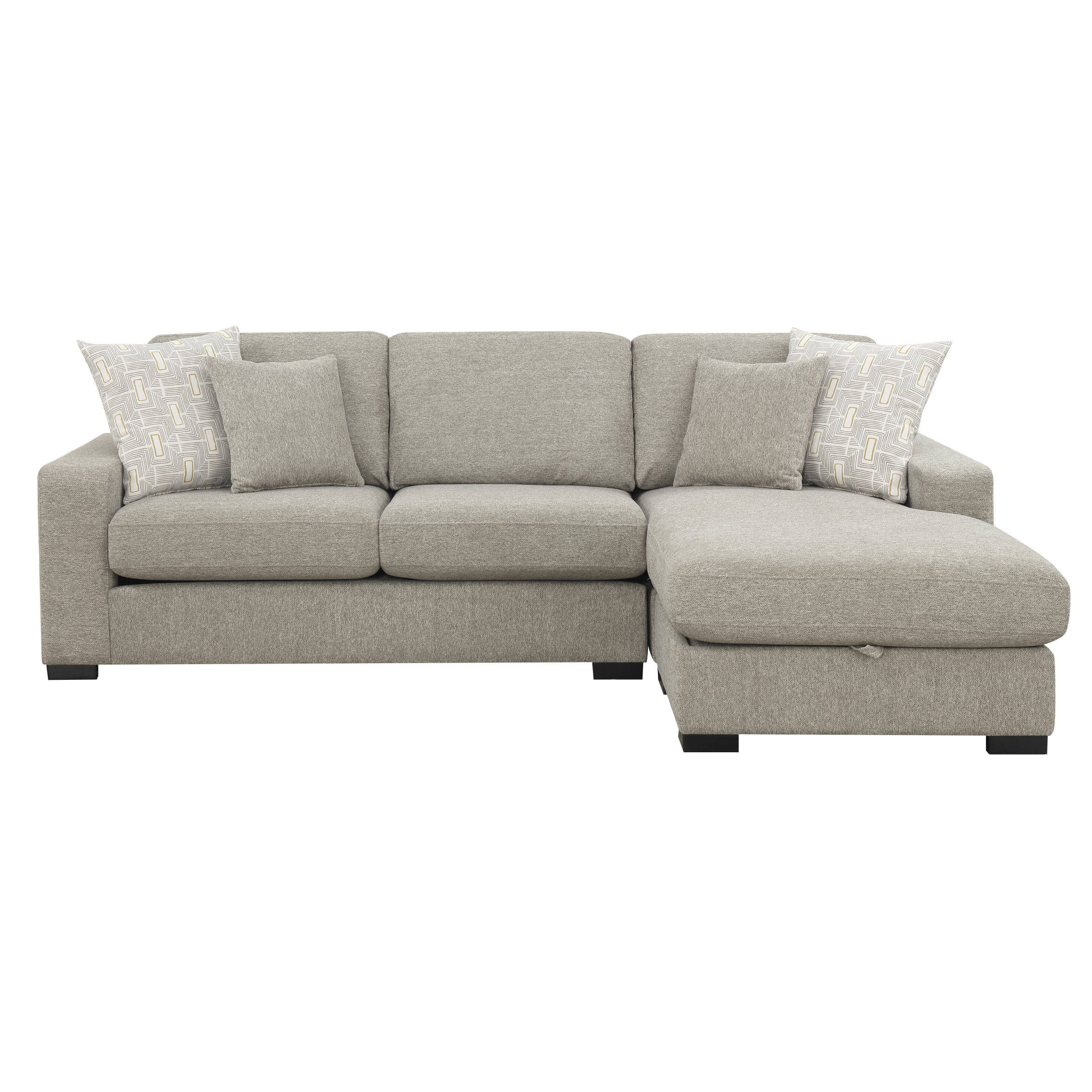 Prime Emerald Home Brahms Gray Reversible Sectional Squirreltailoven Fun Painted Chair Ideas Images Squirreltailovenorg