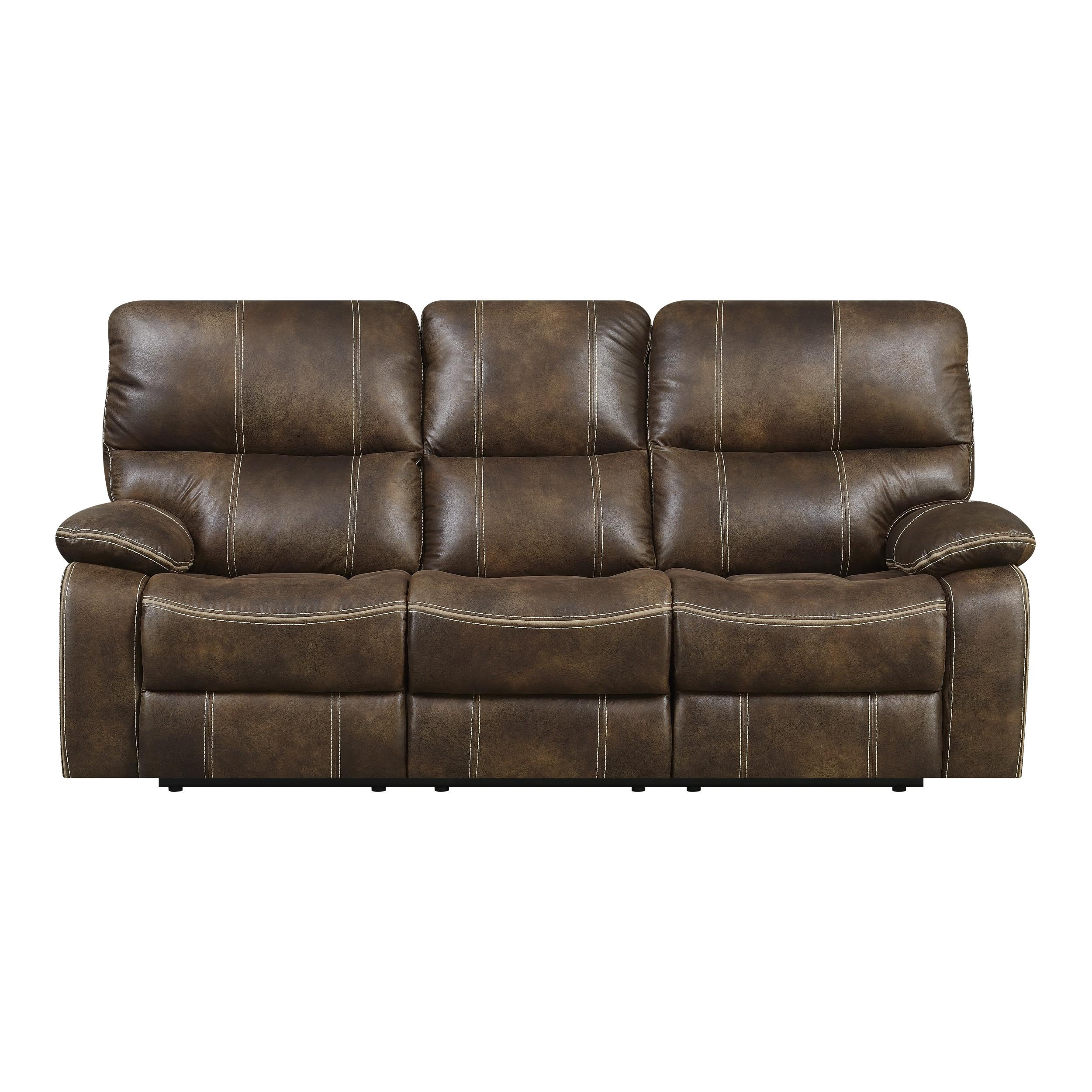 Super Emerald Home Jessie James Chocolate Brown Reclining Sofa Gamerscity Chair Design For Home Gamerscityorg