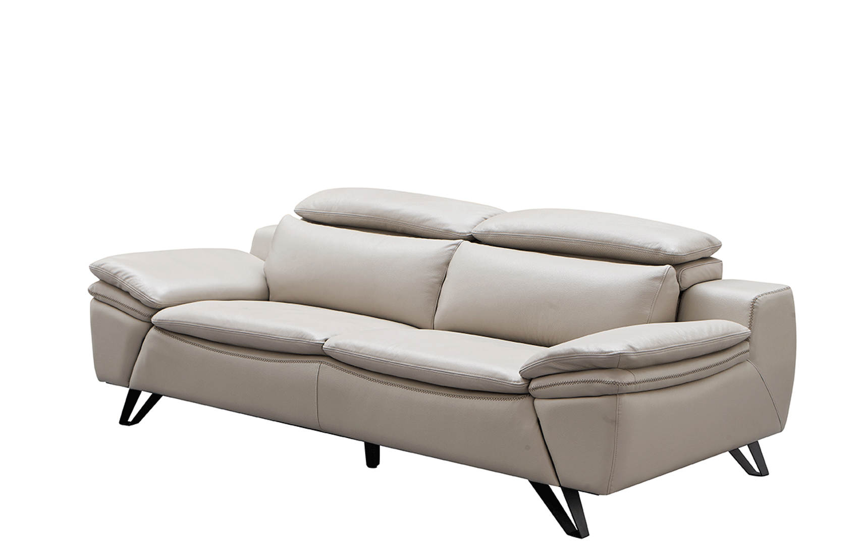 Enjoyable Esf Extravaganza 973 Light Grey Leather Sofa The Classy Home Home Interior And Landscaping Pimpapssignezvosmurscom
