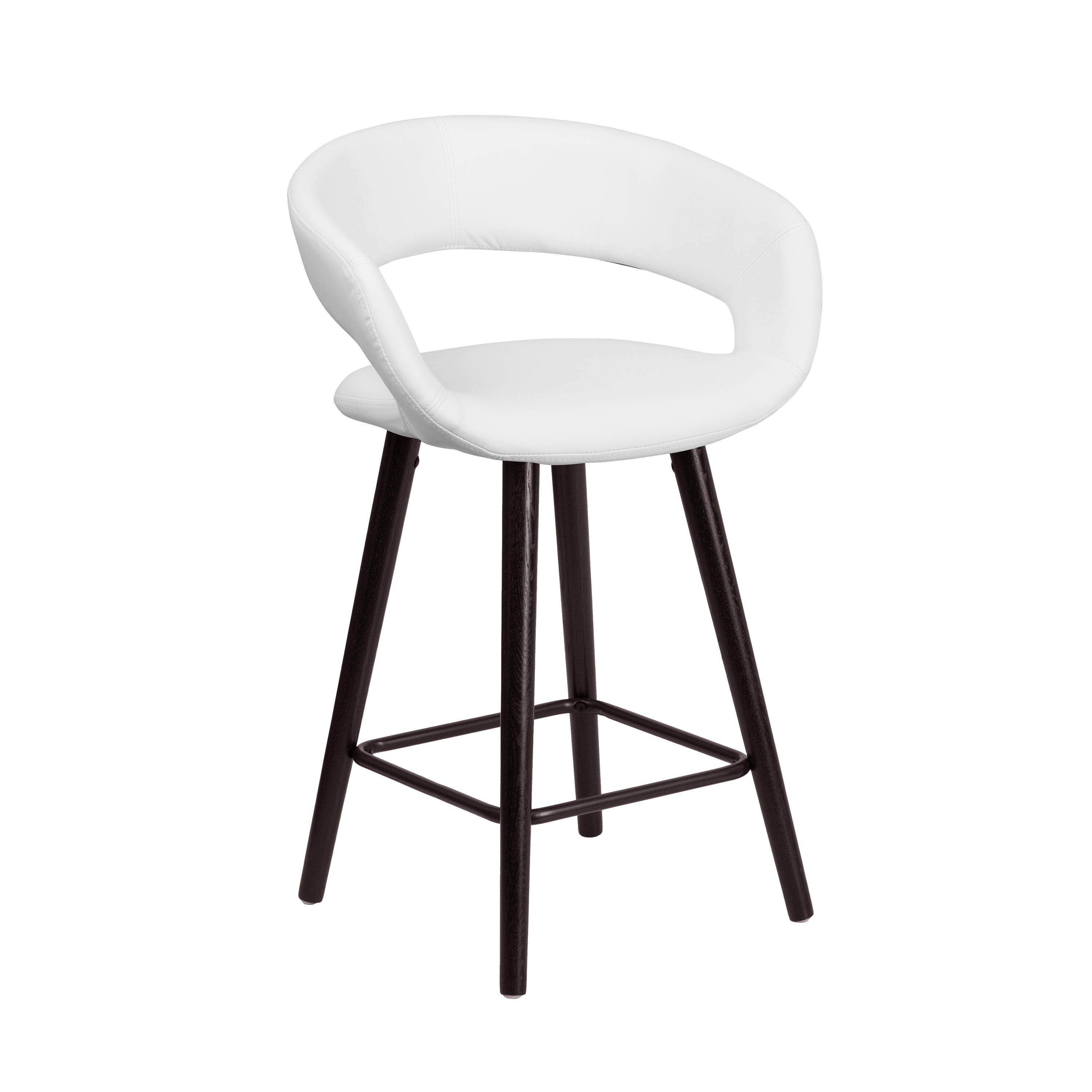 Flash Furniture Brynn White 24 Inch High Counter Height Stool The