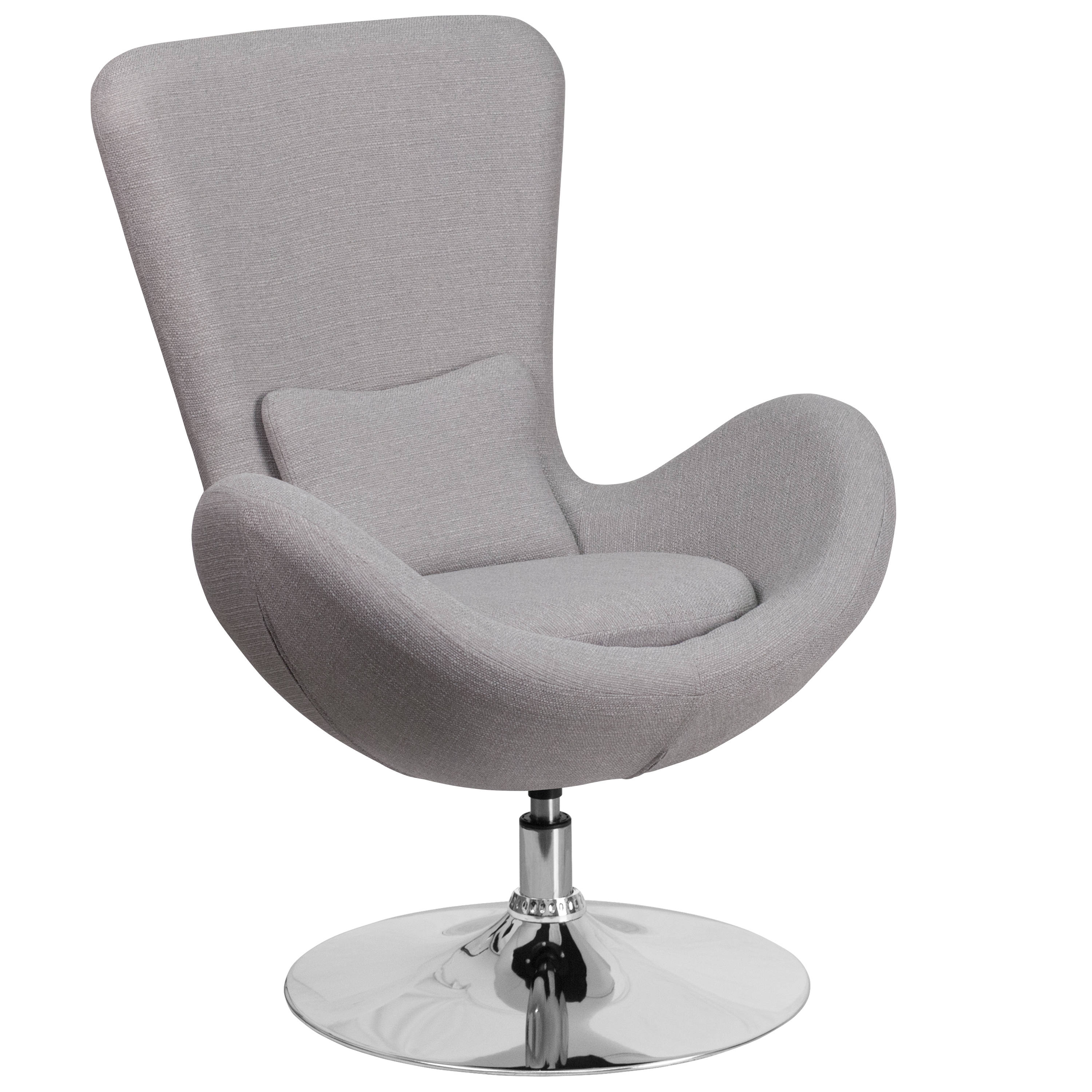 Flash Furniture Egg Light Gray Fabric Side Reception Chair Click To Enlarge