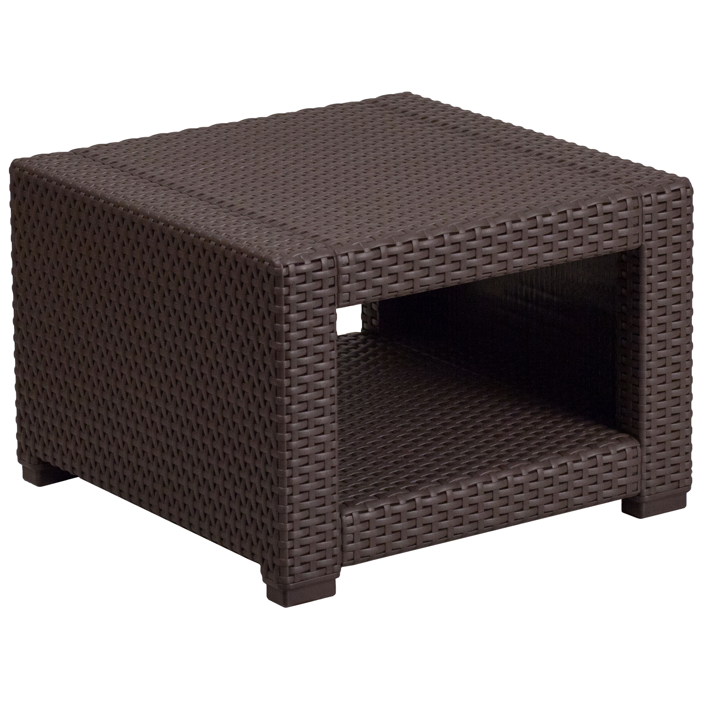 Flash Furniture Chocolate Brown Rattan End Table Click To Enlarge ...