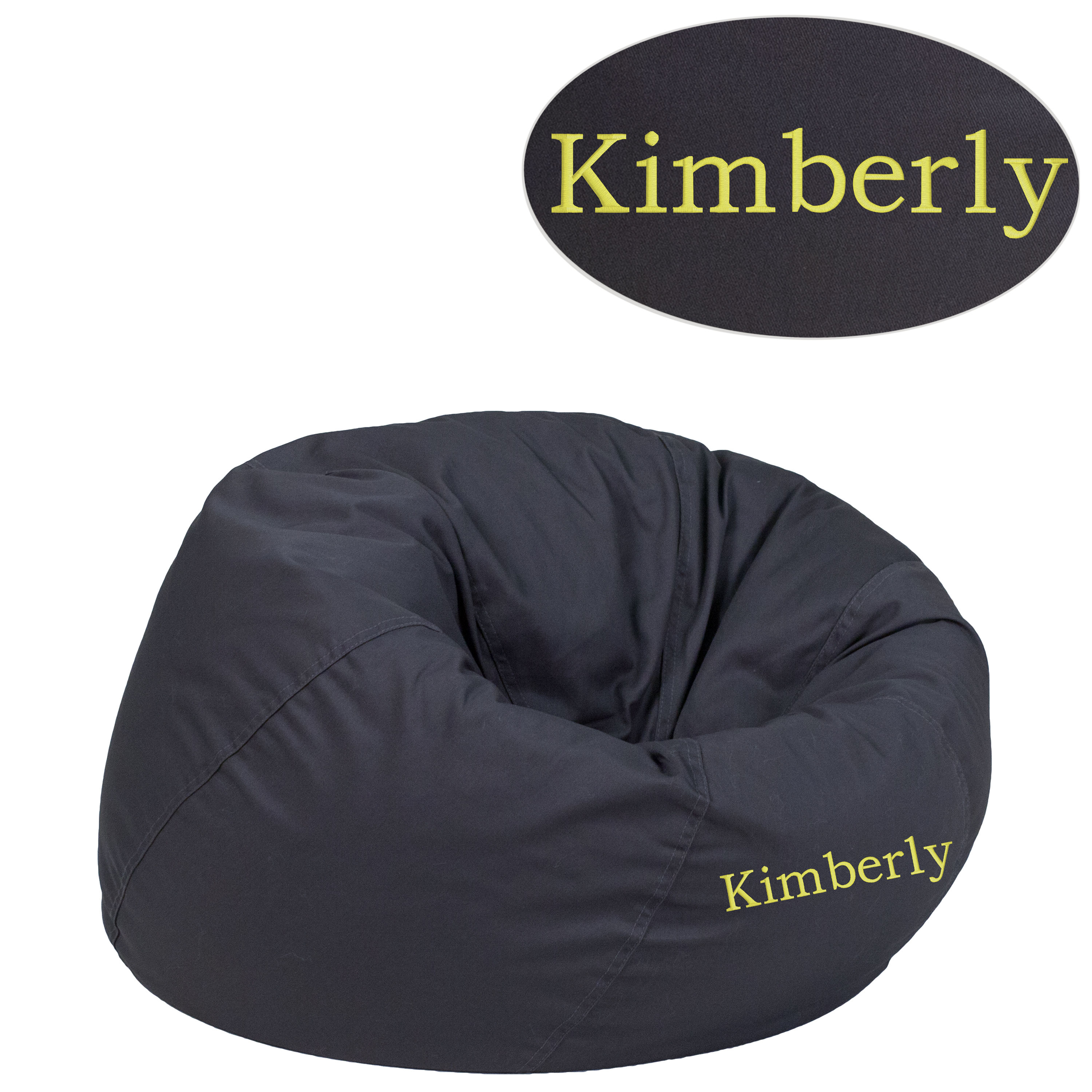 Flash Furniture Gray Fabric Txt Bean Bag Chair Click To Enlarge