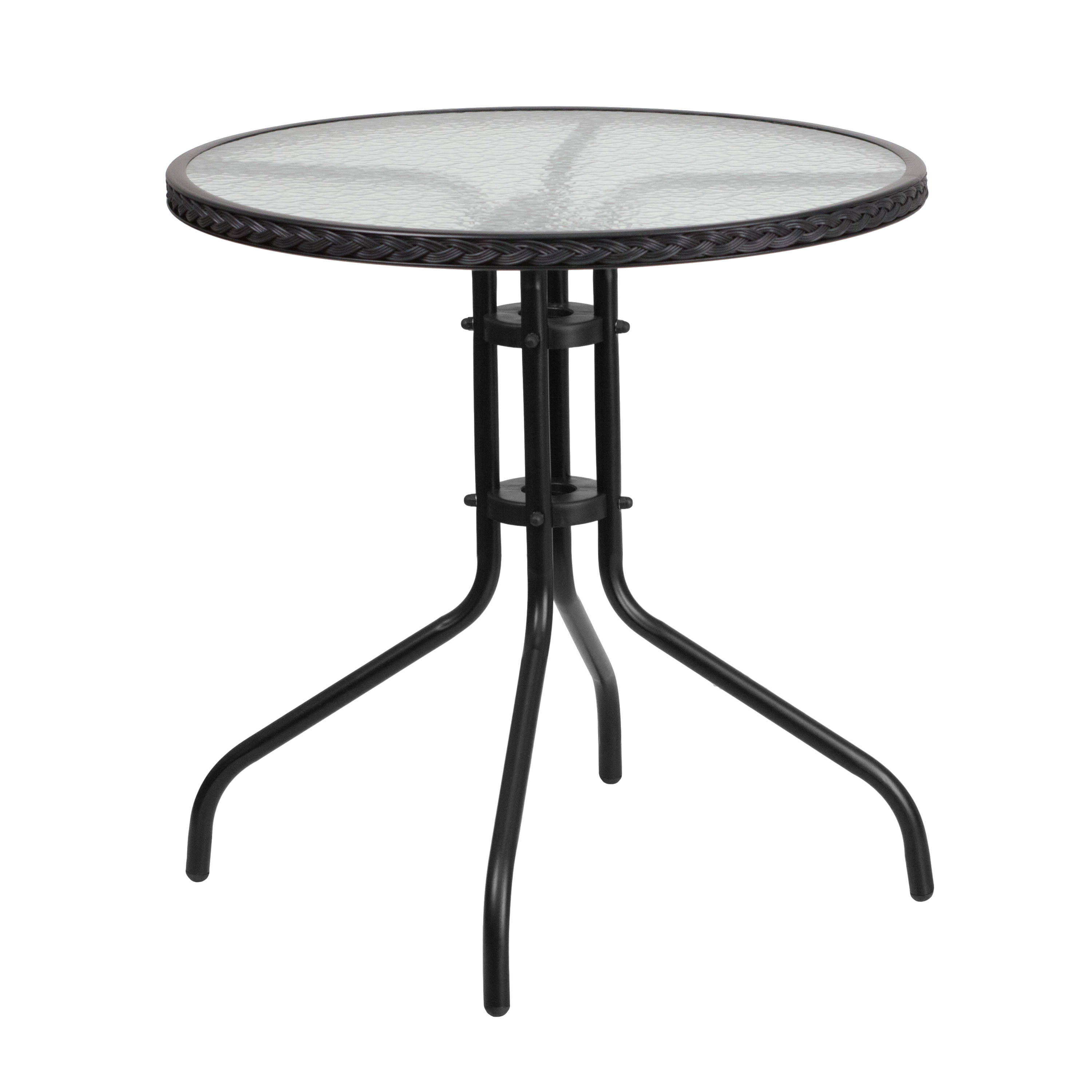 Peachy Flash Furniture 28 Inch Round Table With Black Rattan Edging Lamtechconsult Wood Chair Design Ideas Lamtechconsultcom