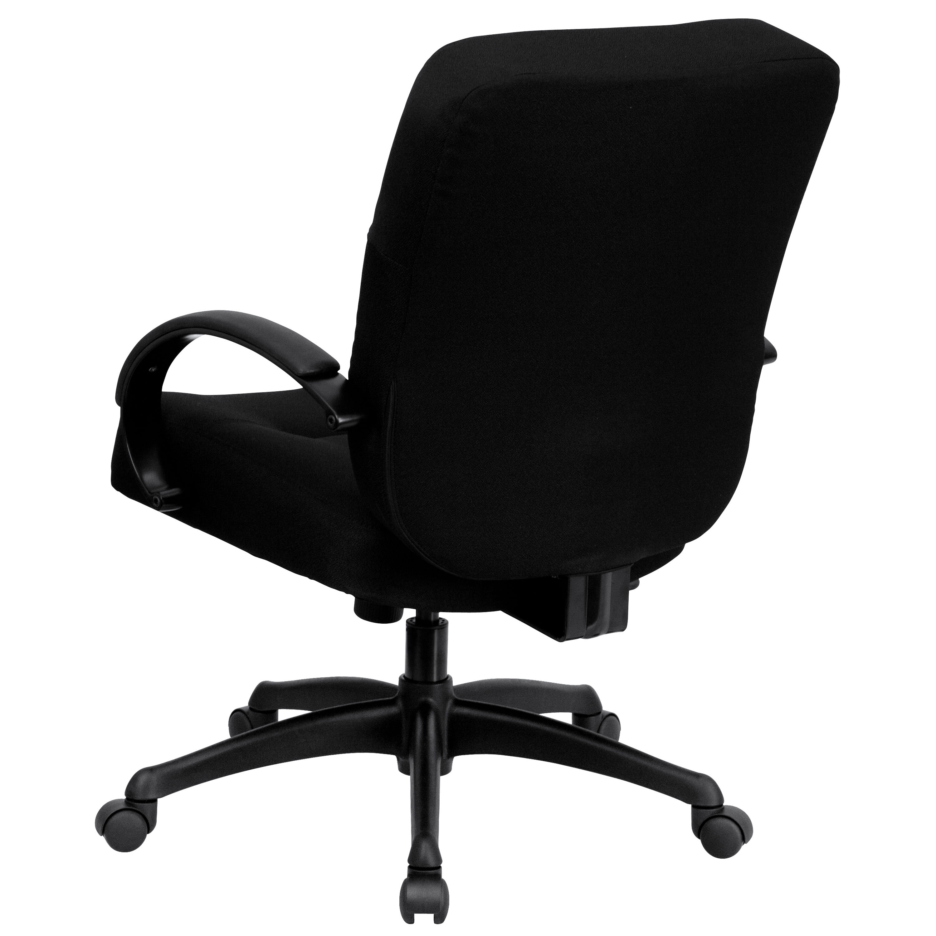 Flash Furniture Hercules Big and Tall Black Fabric Armless Office Chair