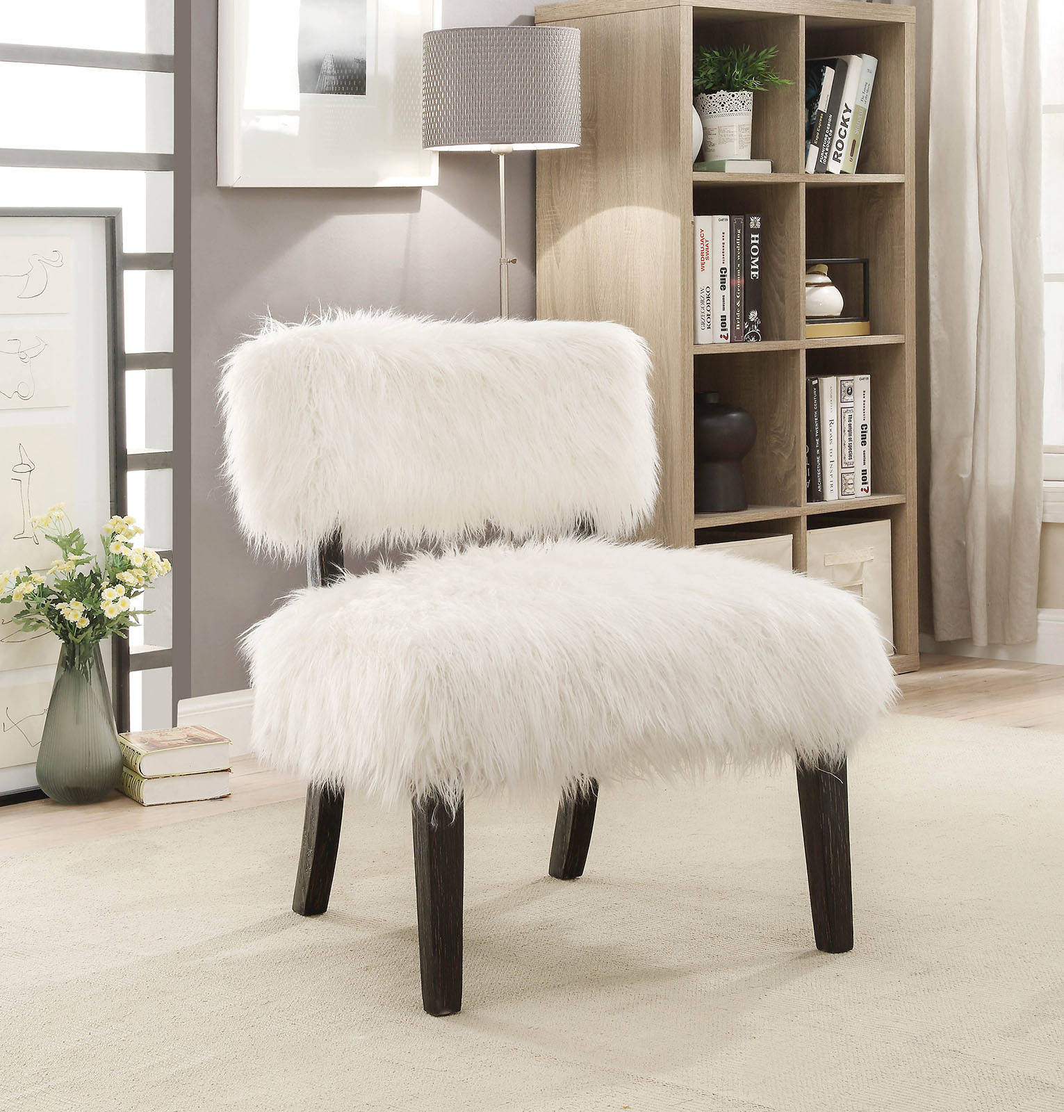 Tremendous Furniture Of America Pardeep White Accent Chair Camellatalisay Diy Chair Ideas Camellatalisaycom