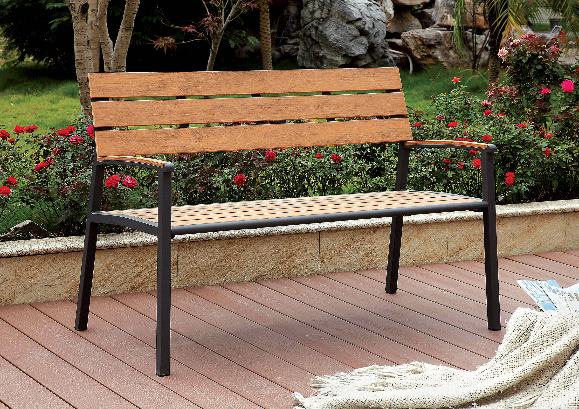 Oak Outdoor Bench Click To Enlarge