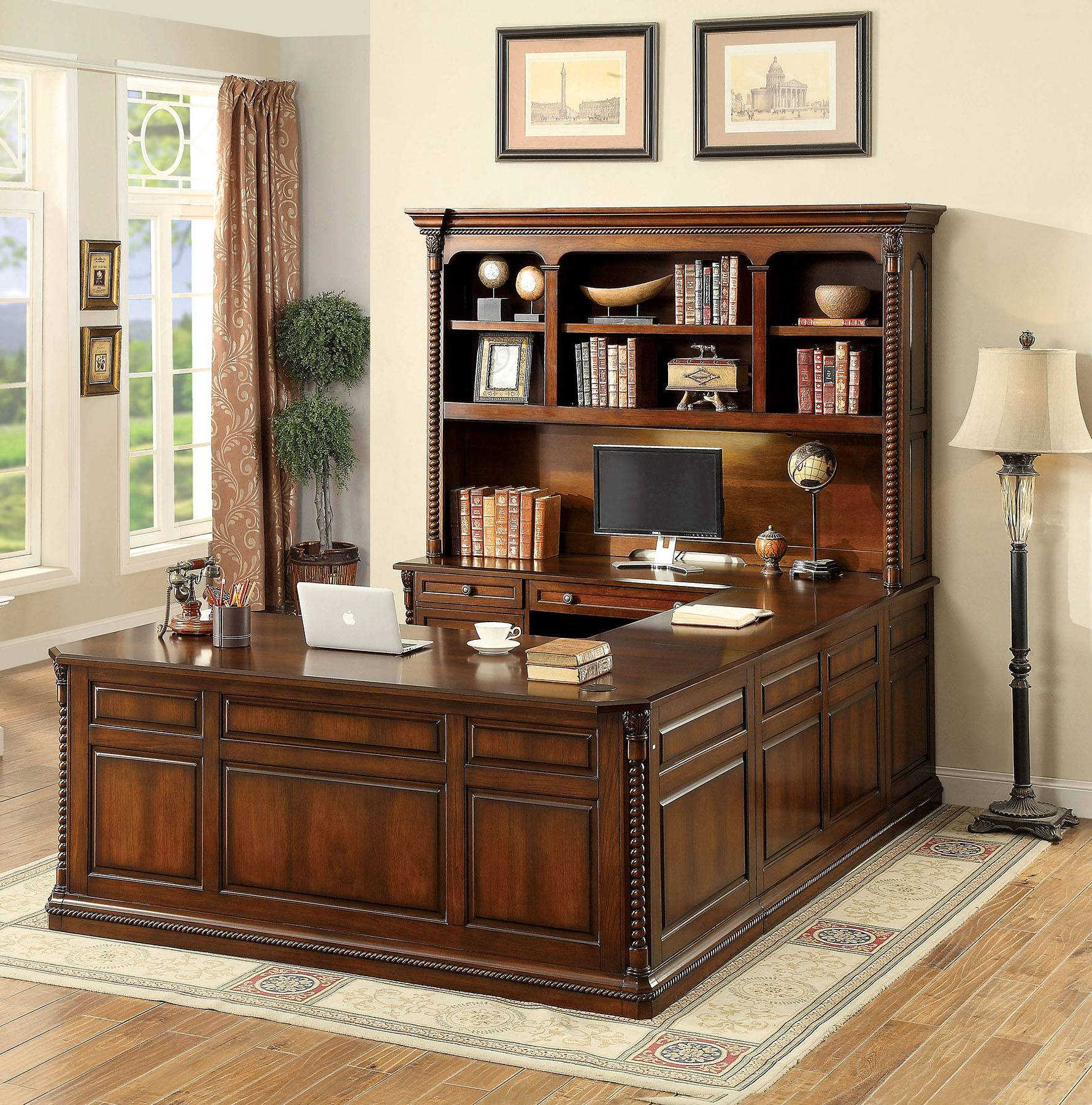 Home Office Sets Office Furniture Elements: Furniture Of America Lavinia 4pc Office Furniture Set