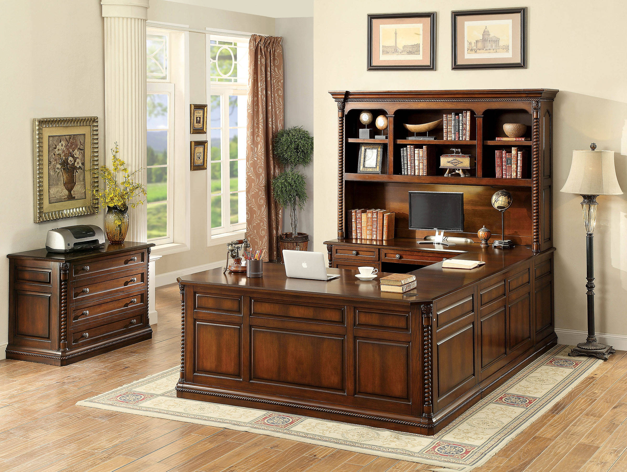 Lavinia Traditional Dark Oak Solid Wood Office Furniture