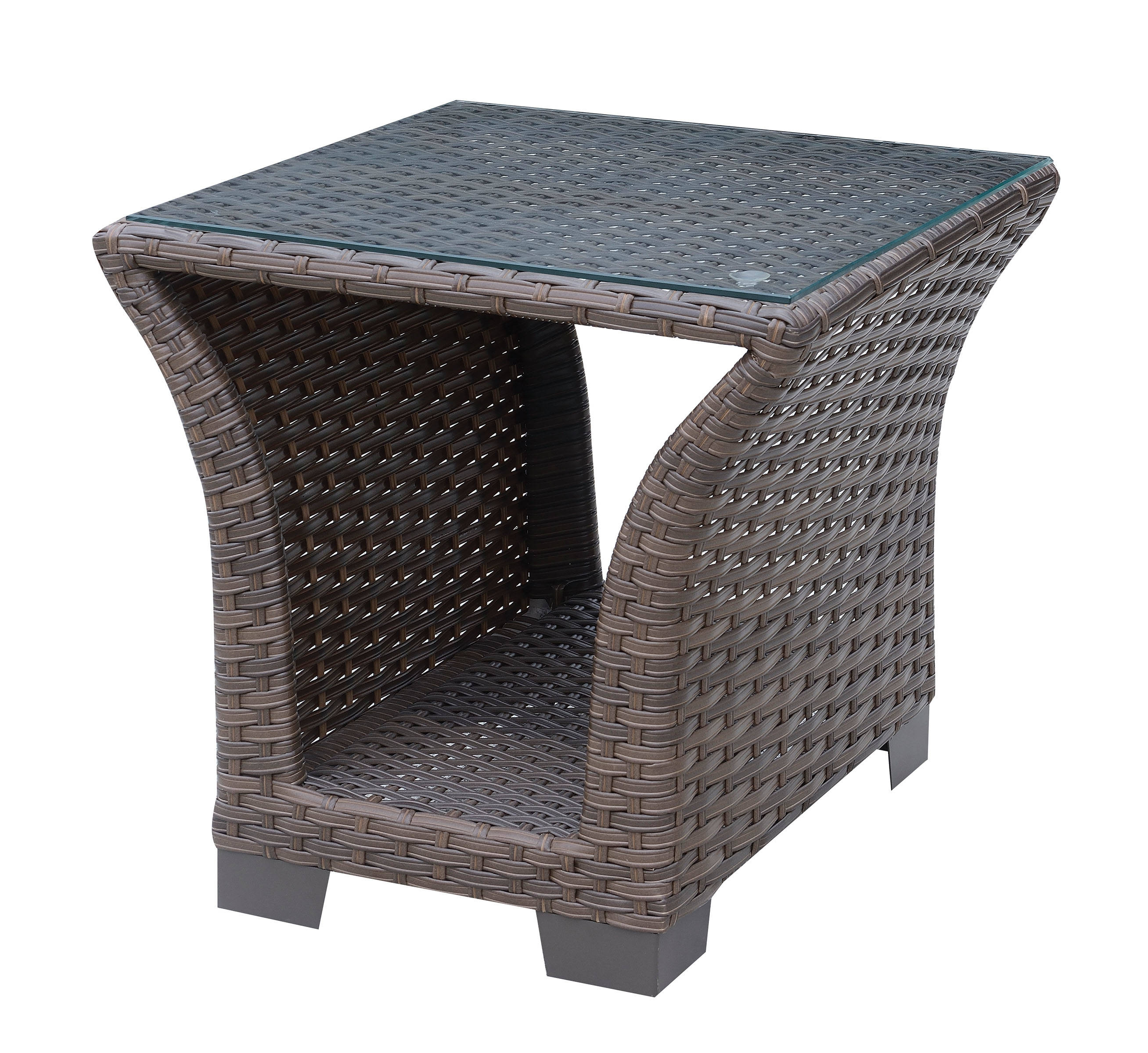 Furniture Of America Bowbells Brown Patio End Table