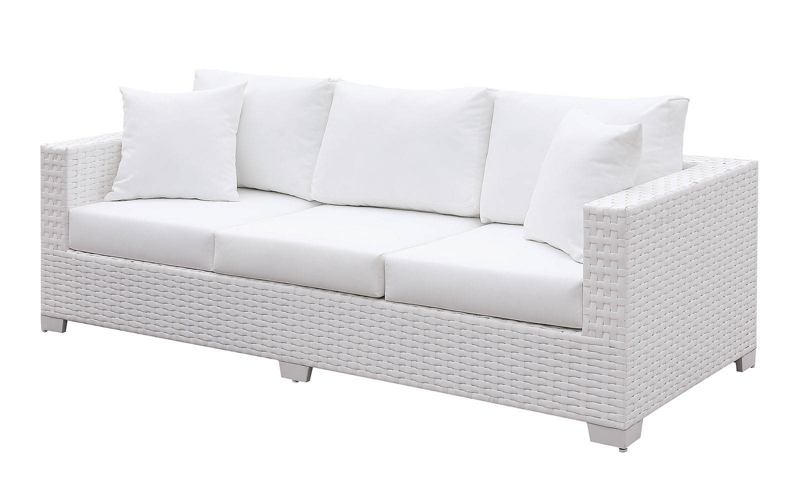 Groovy Furniture Of America Somani White Sofa With 2 Pillows Squirreltailoven Fun Painted Chair Ideas Images Squirreltailovenorg