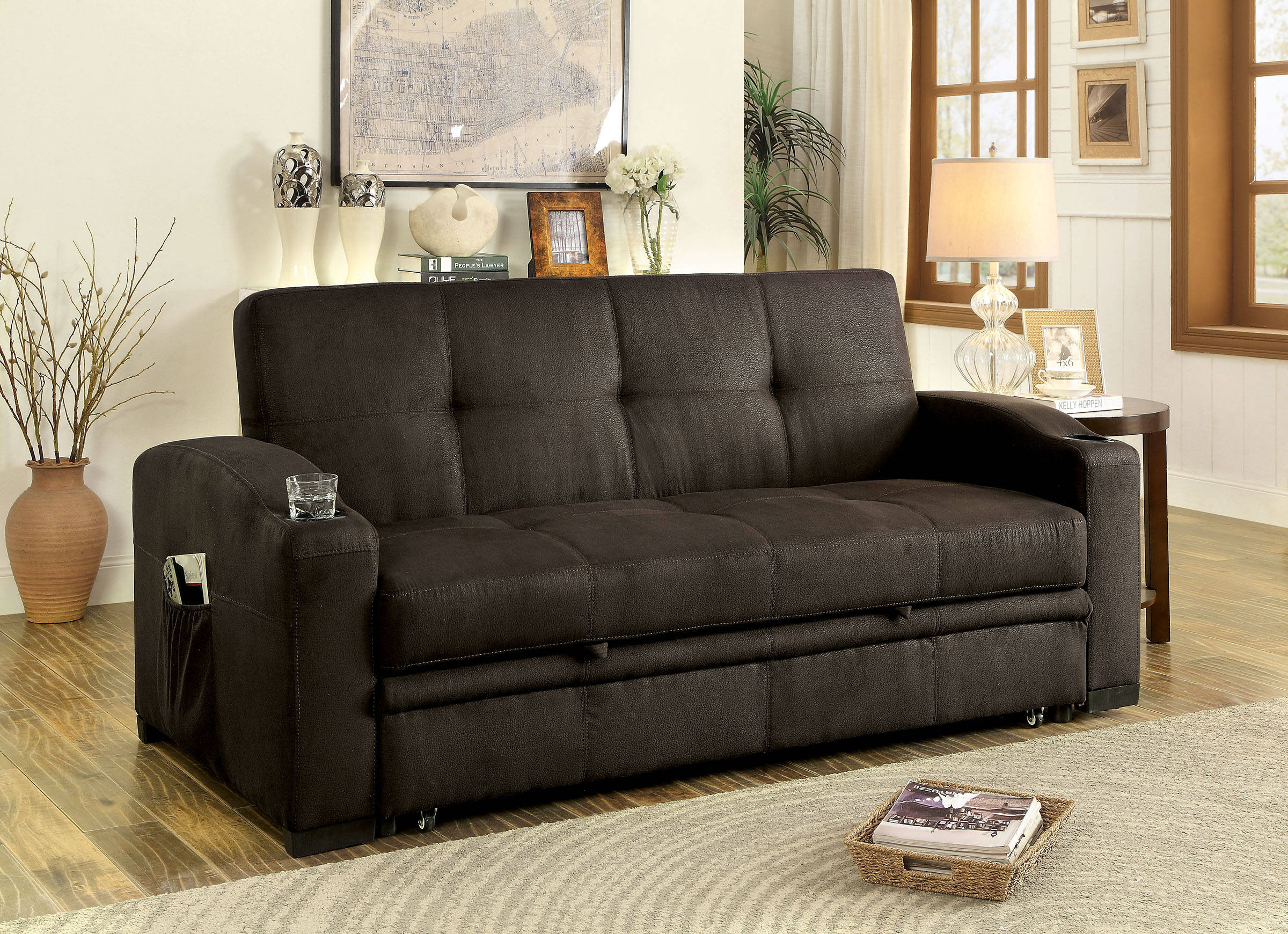 Furniture of America Mavis Futon Sofa | The Classy Home