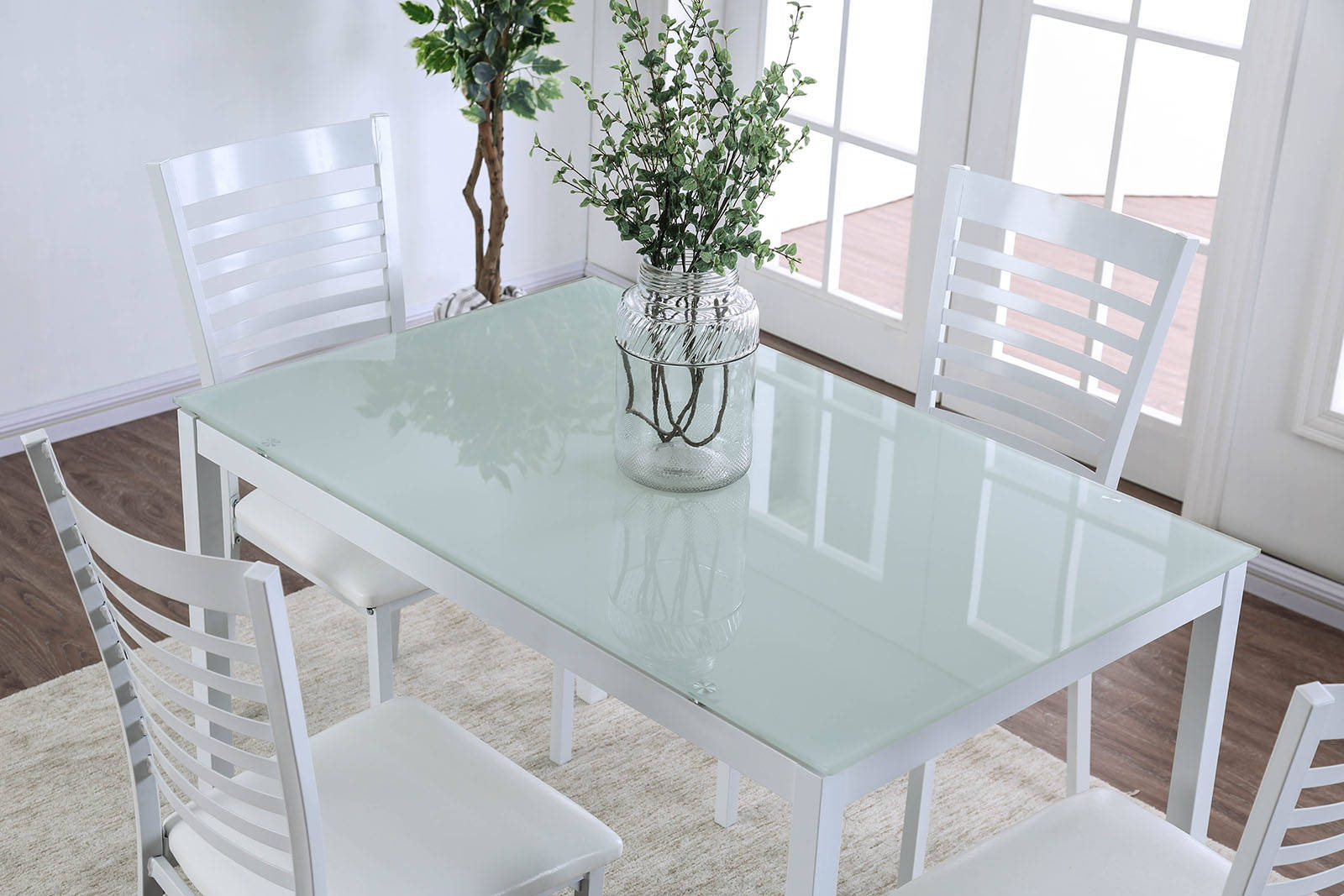 Cool Furniture Of America Arwen White 48 Inch Dining Table The Download Free Architecture Designs Aeocymadebymaigaardcom