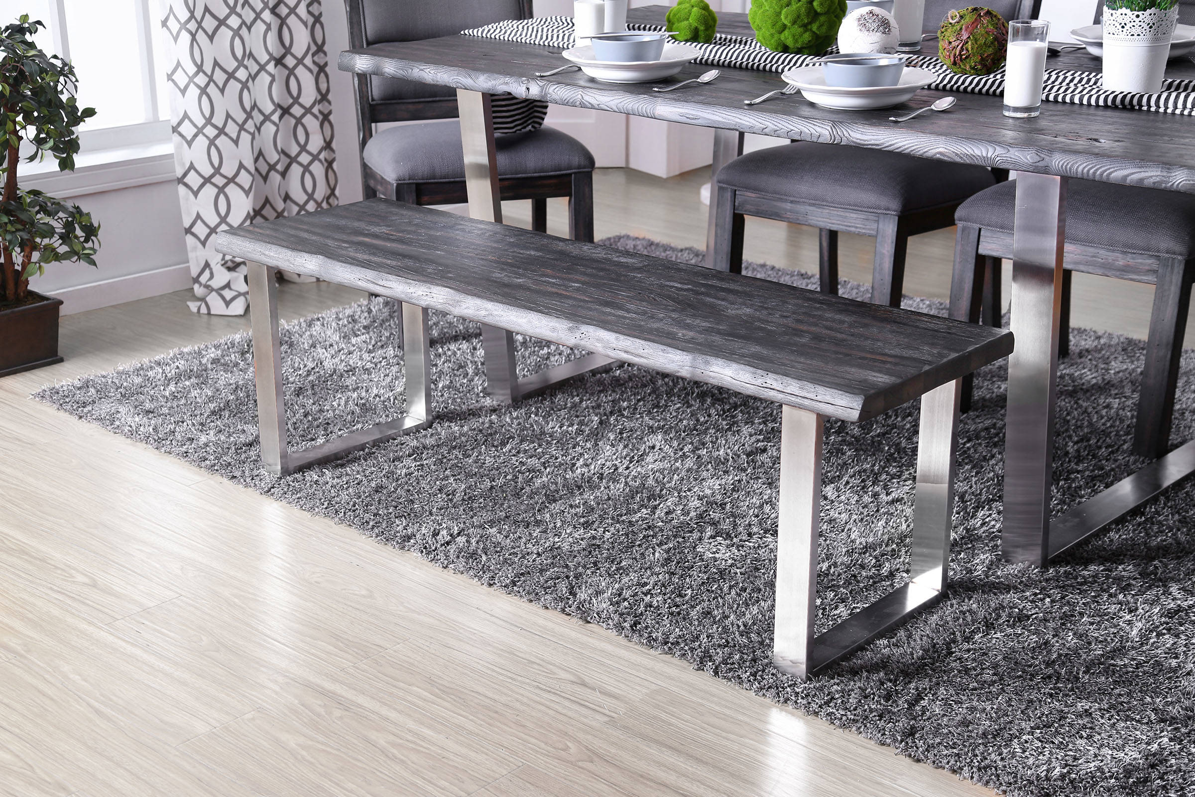 Furniture Of America Mandy Antique Gray Bench