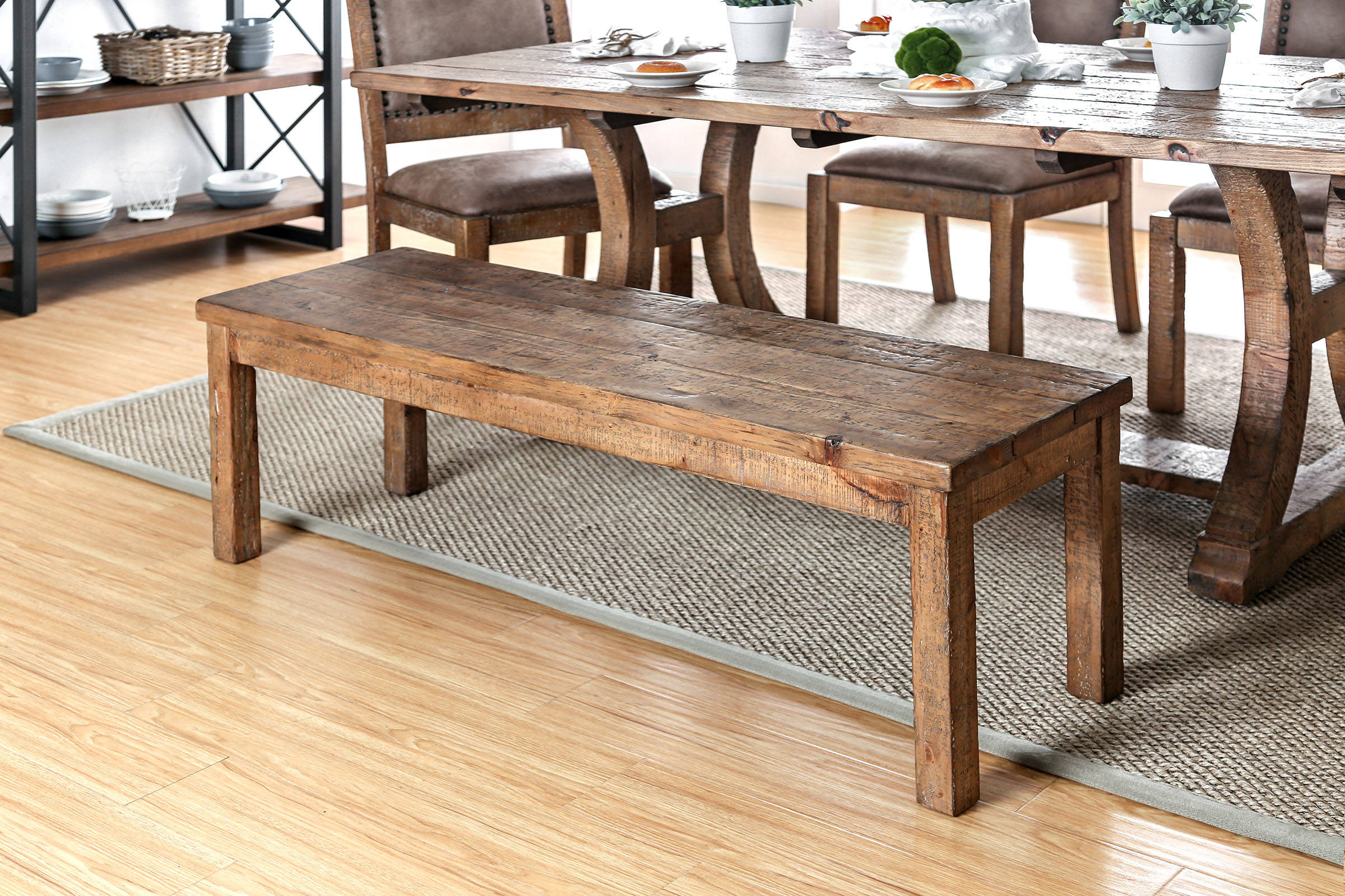 b8ad84381328 Furniture of America Gianna Wood Bench Click To Enlarge ...
