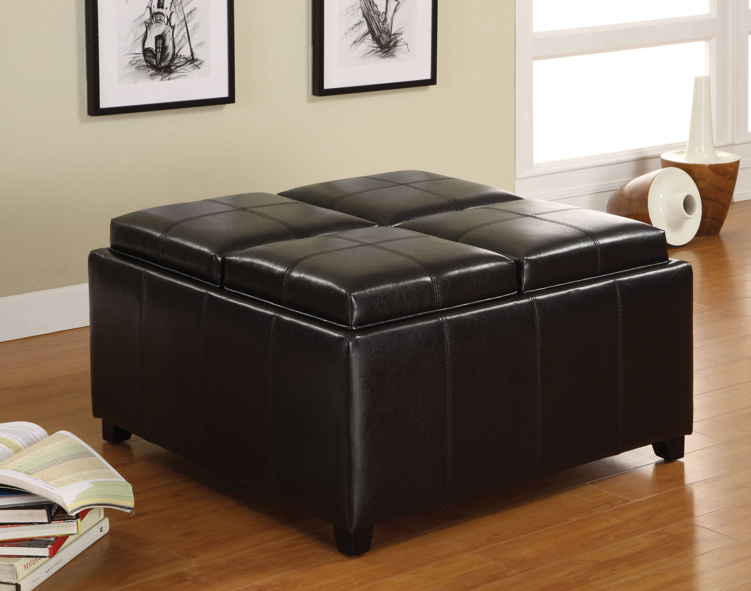 Superb Furniture Of America Elvina Tray Top Storage Ottoman Alphanode Cool Chair Designs And Ideas Alphanodeonline