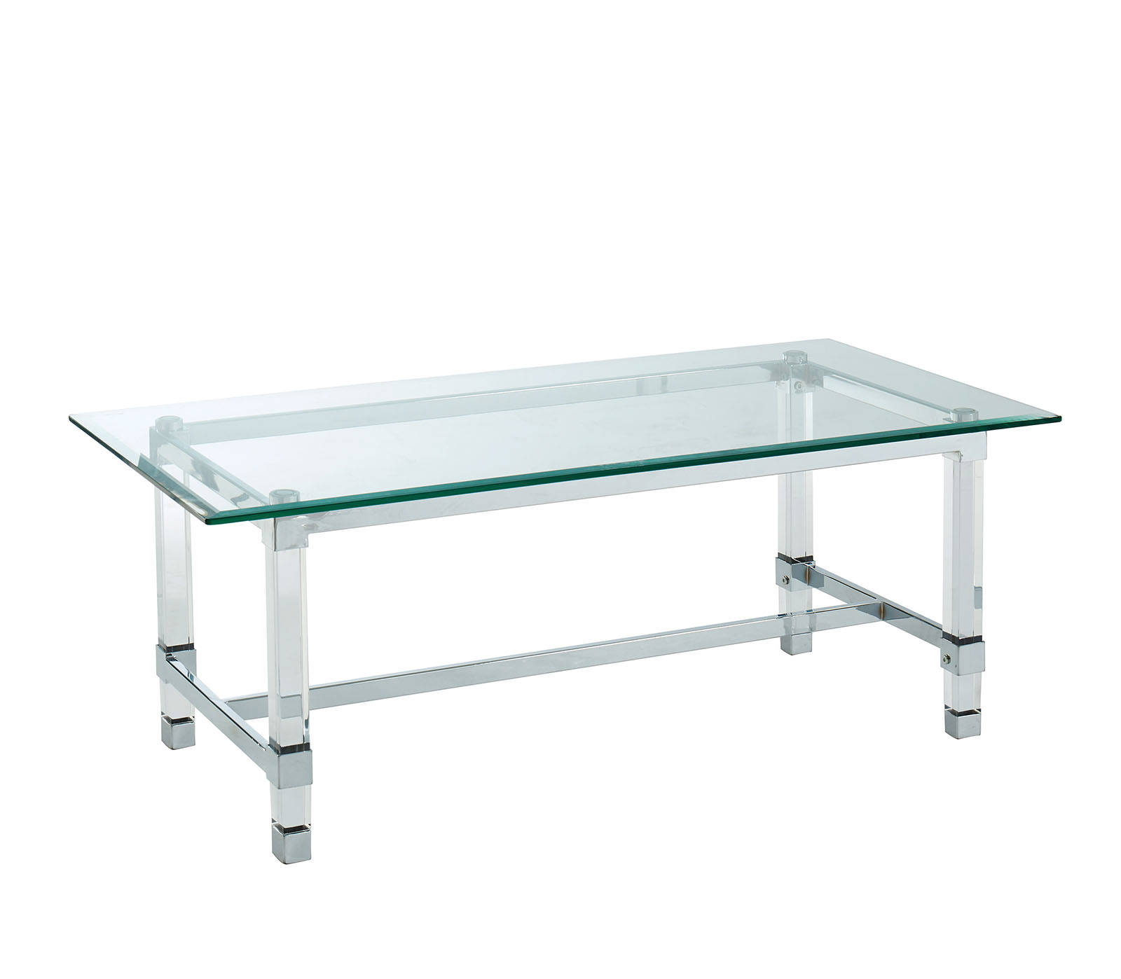 Furniture Of America Tuva Clear Coffee Table The Classy Home