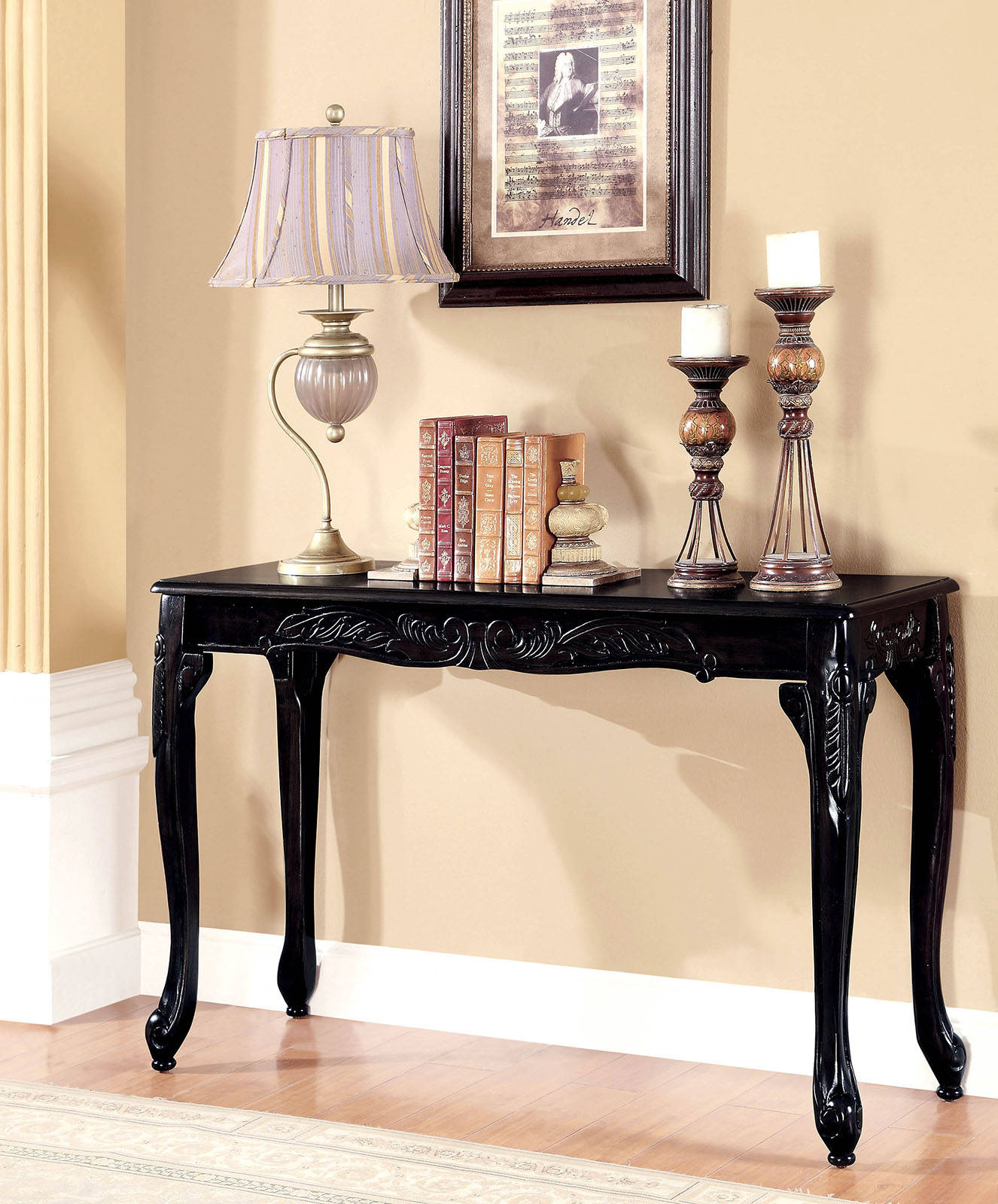 Fantastic Furniture Of America Cheshire Black Sofa Table Alphanode Cool Chair Designs And Ideas Alphanodeonline