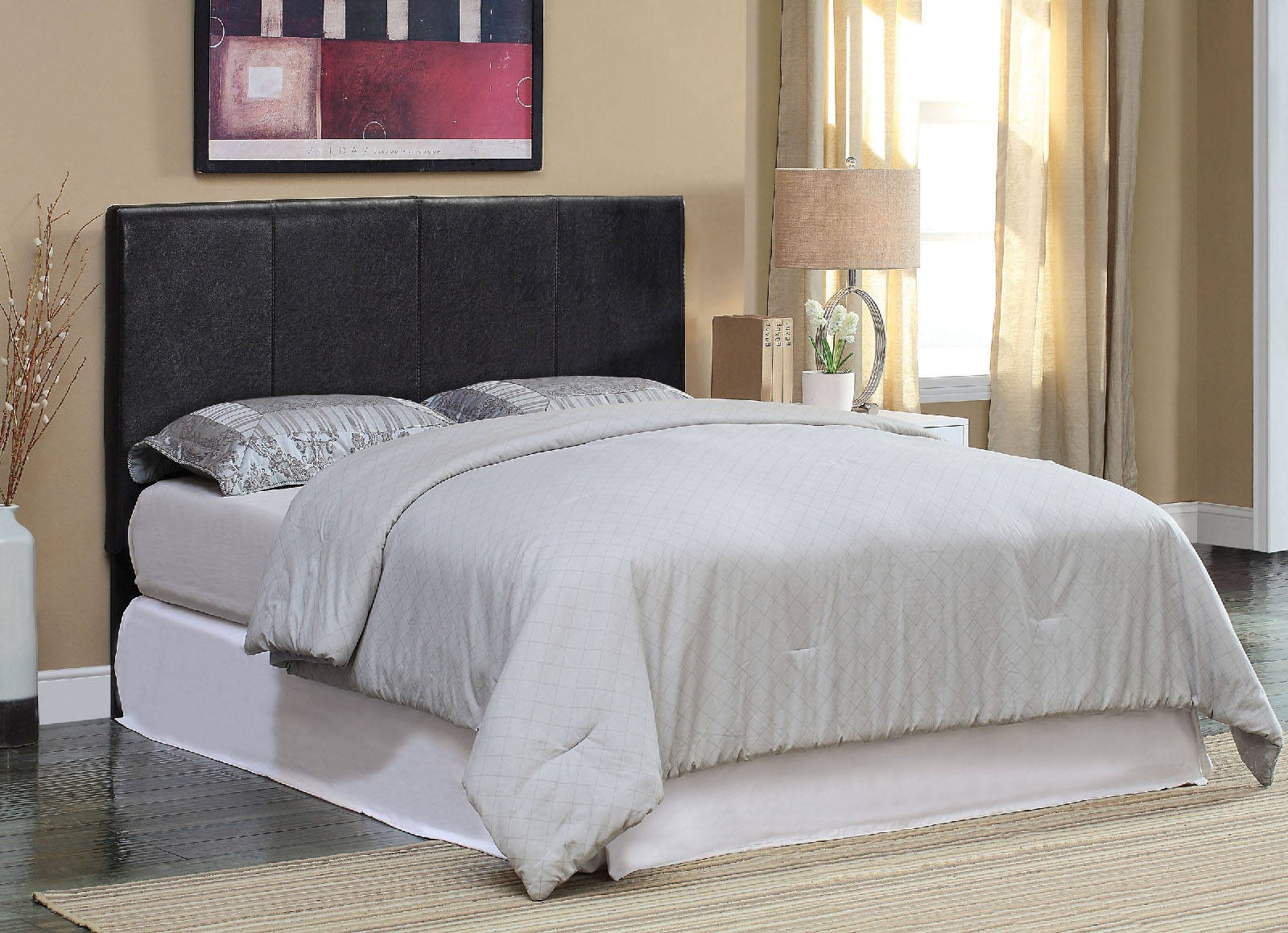 276740440a9 Furniture of America Winn Park II Black King Headboard with Bed Frame Click  To Enlarge ...