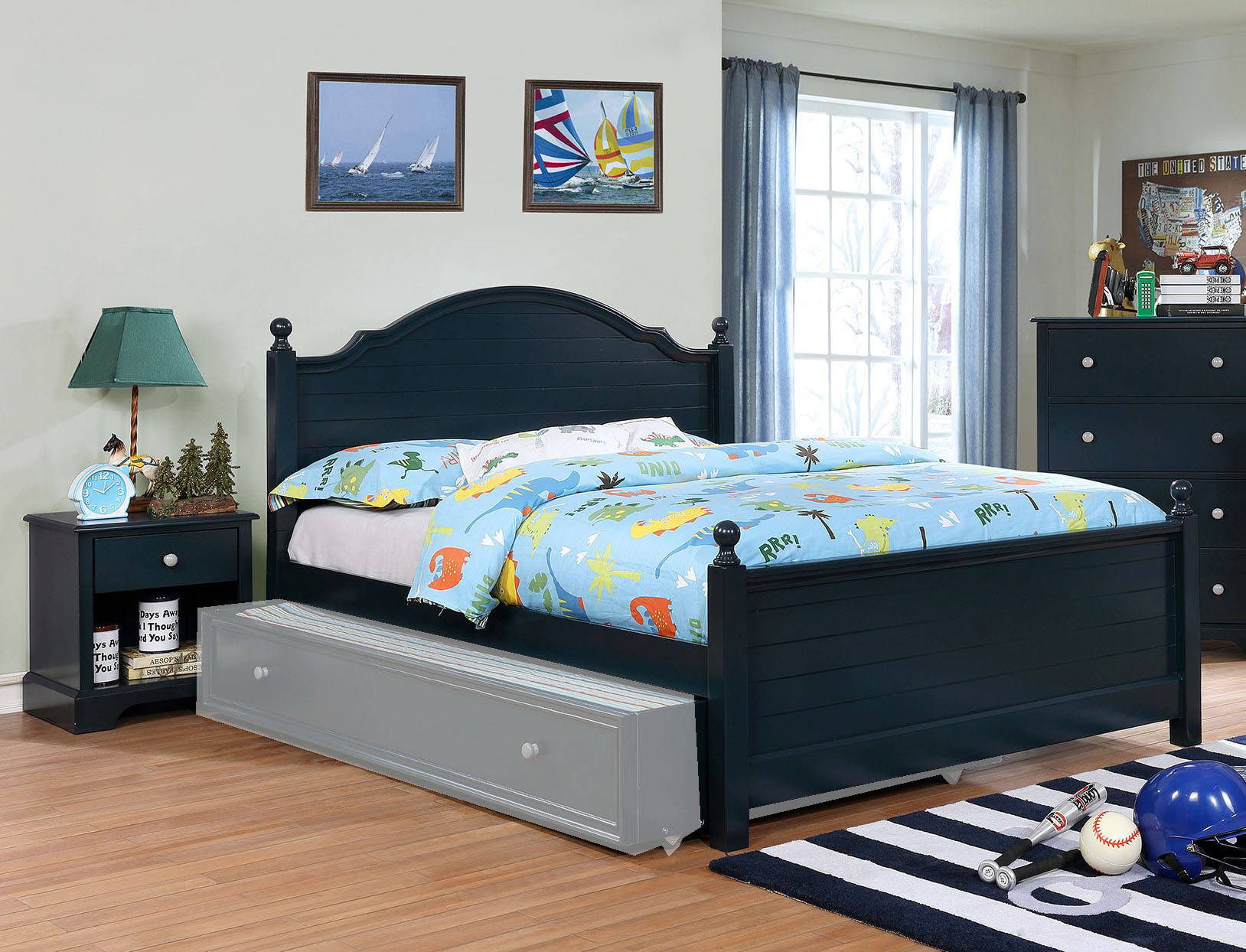 Furniture of America Diane Blue 2pc Kids Bedroom Set with Full Bed