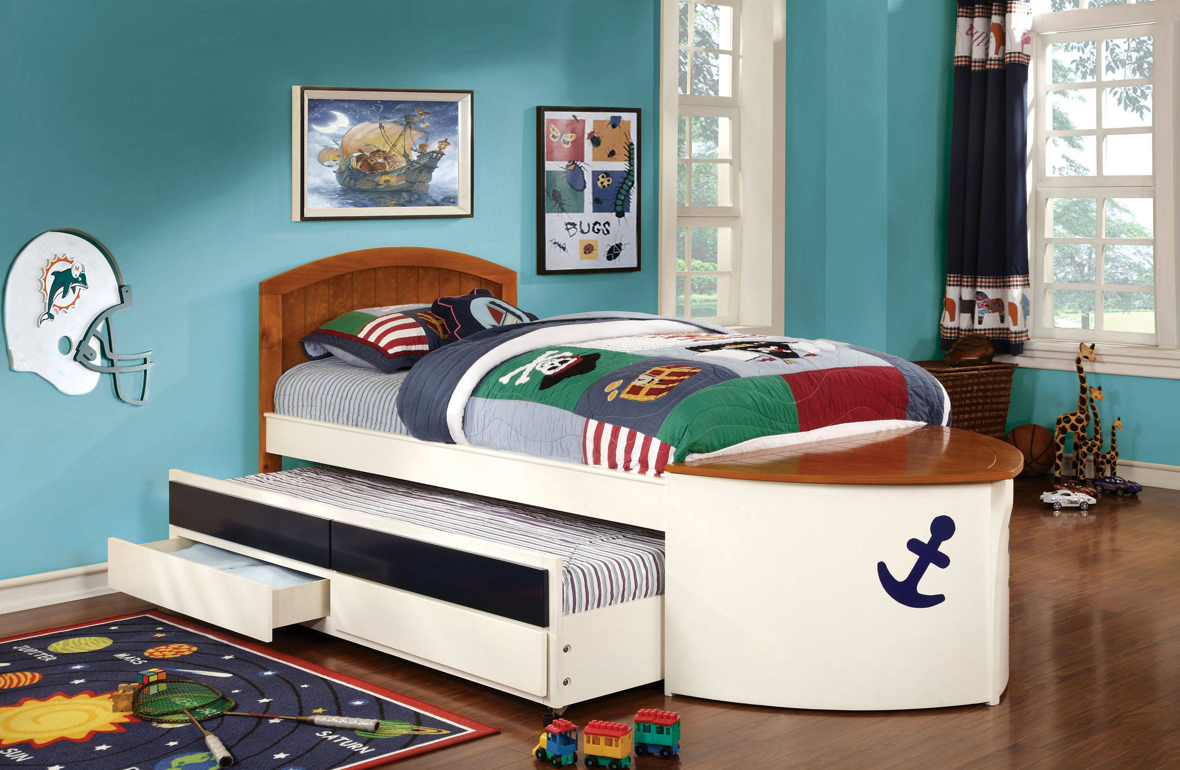 Furniture of america voyager twin trundle and drawers bed for Furniture of america bed reviews