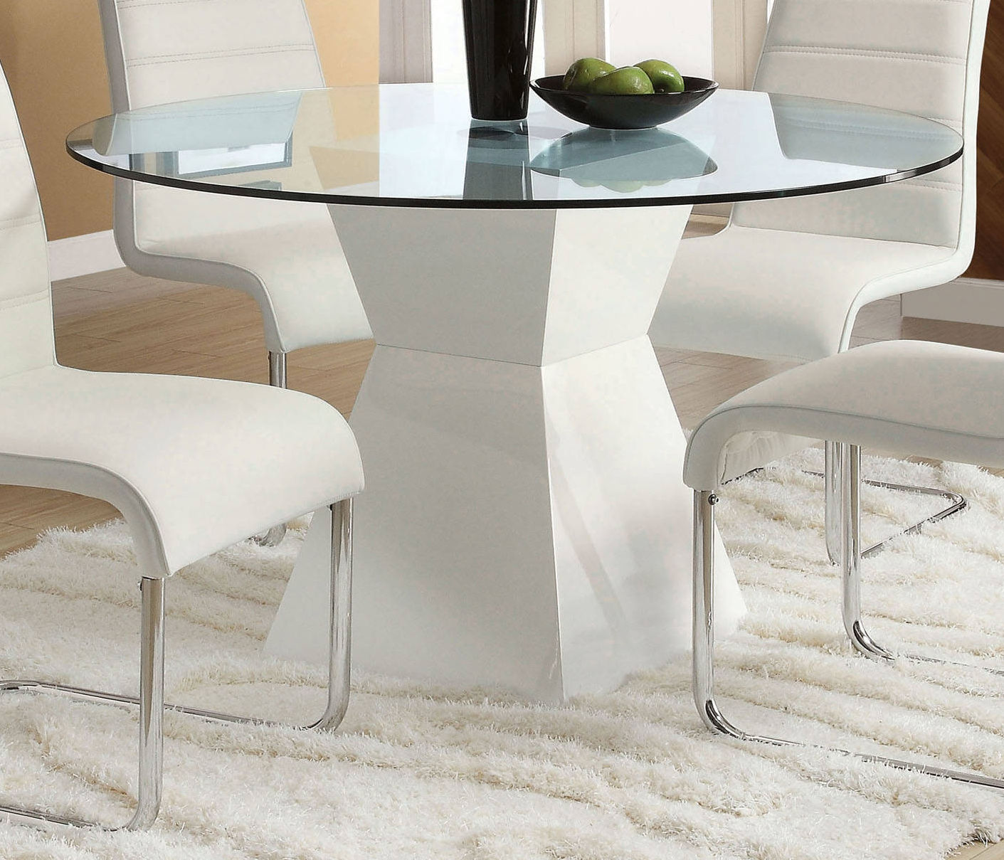 Furniture of America Mauna White Round Dining Table